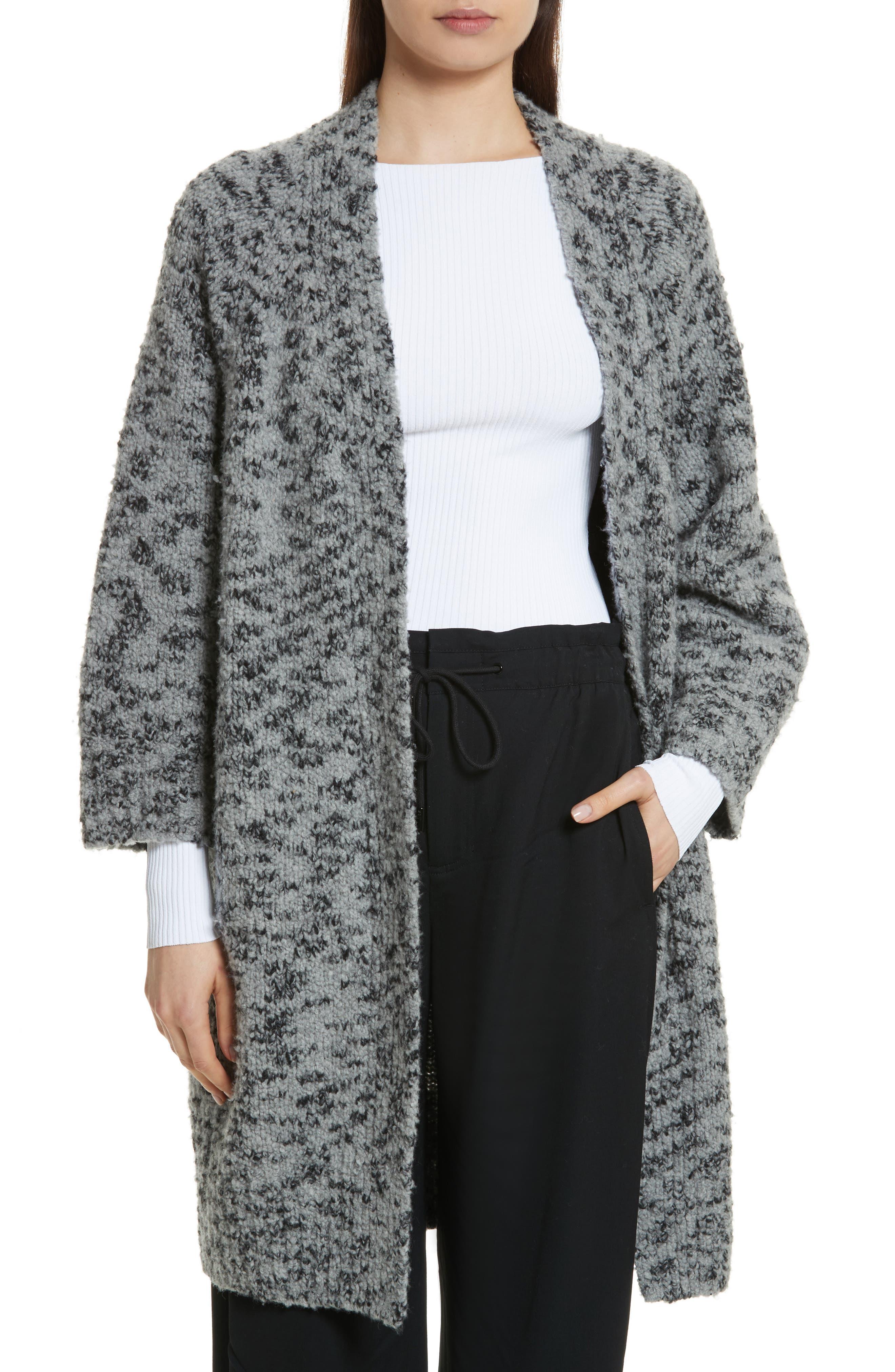 Vince Textured Wool Blend Cardigan