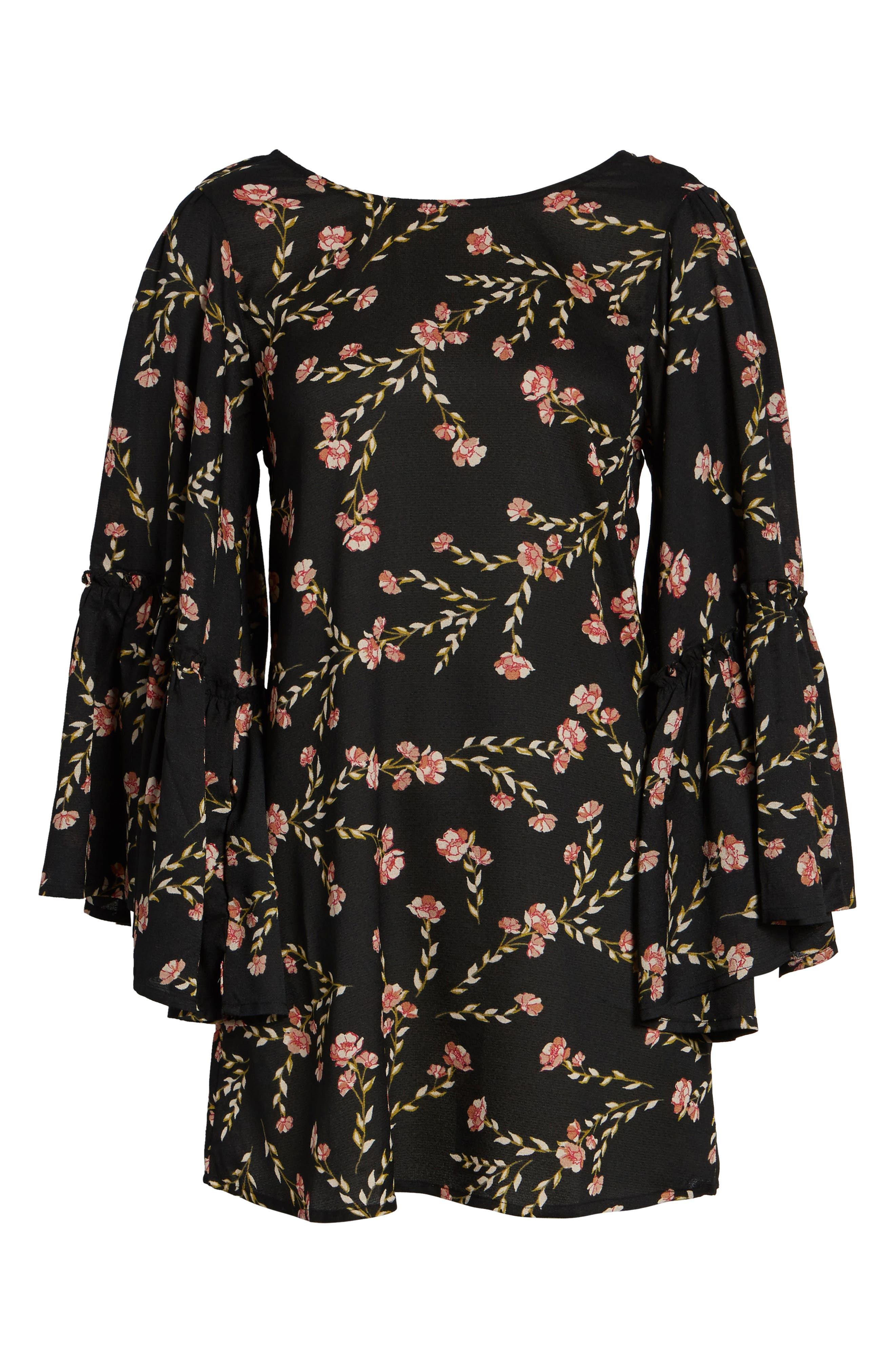 Woven Minidress,                         Main,                         color, Black