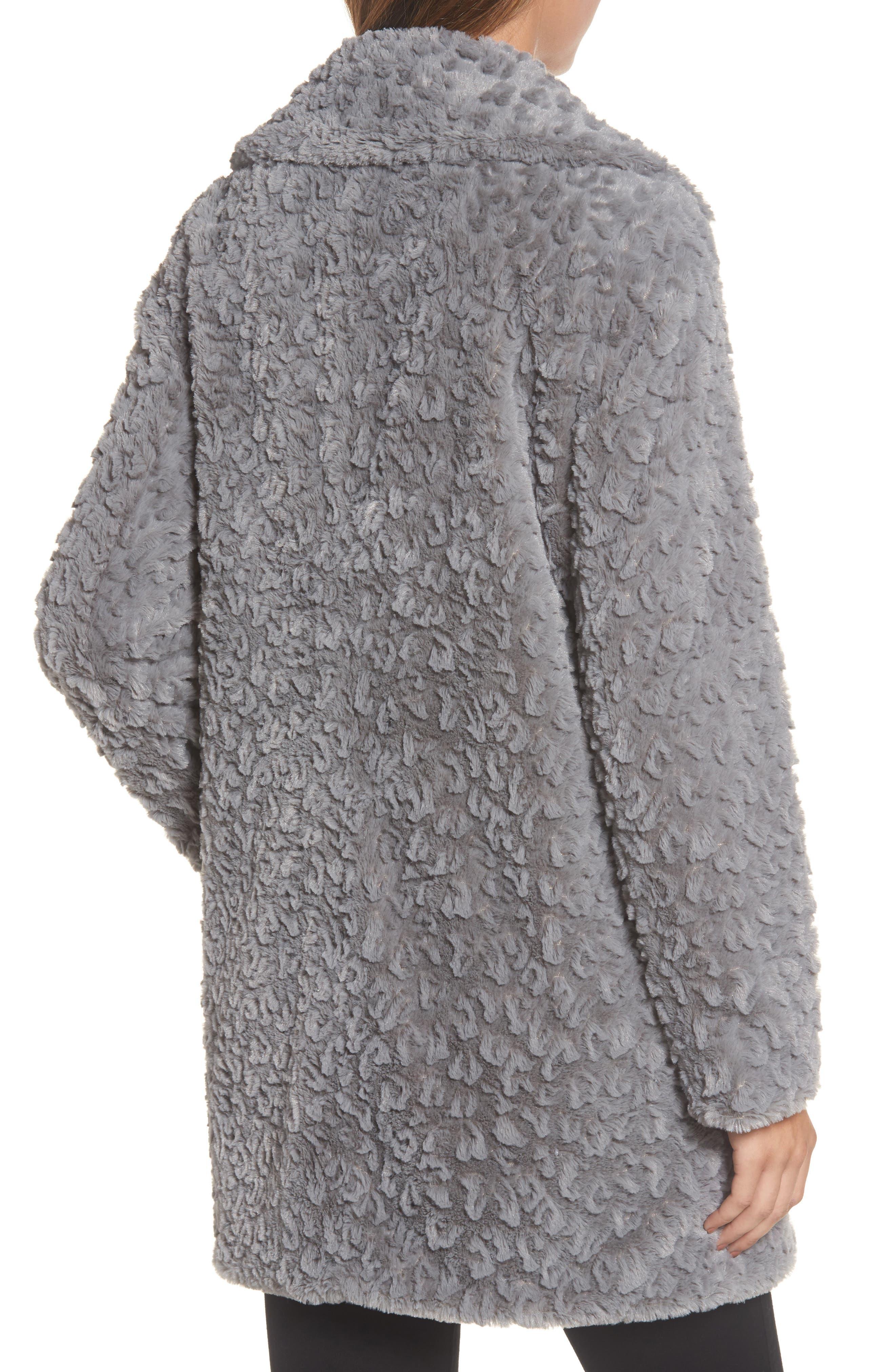 Alternate Image 2  - Kenneth Cole New York Faux Fur Coat (Regular & Petite)