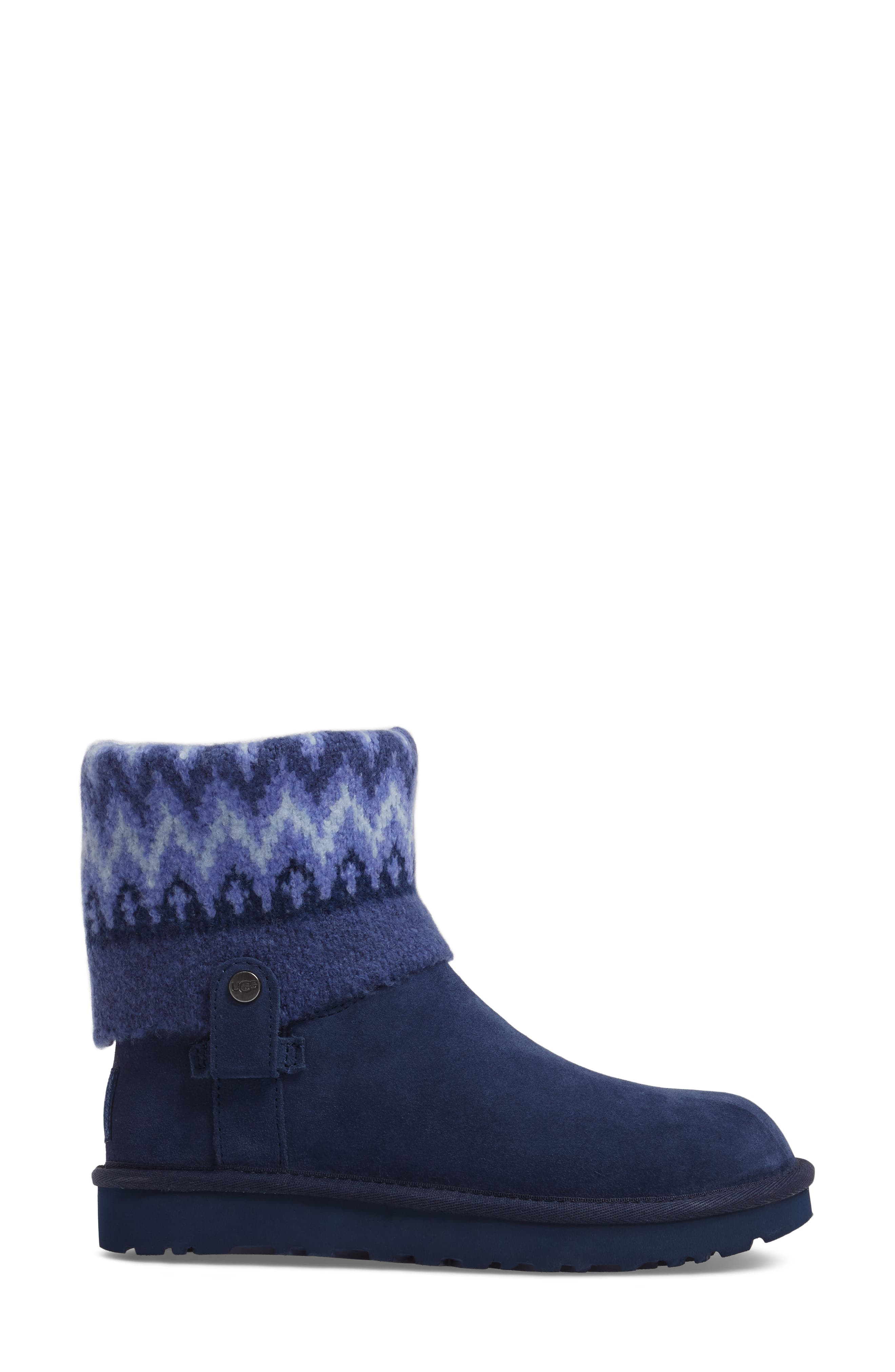 Saela Icelandic Boot,                             Alternate thumbnail 3, color,                             Navy Suede