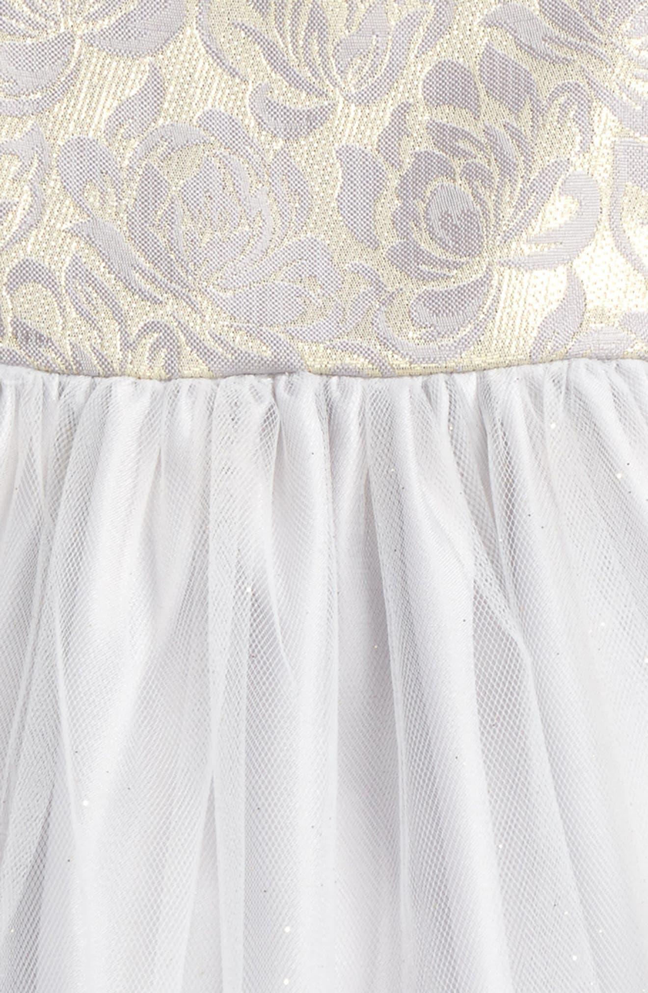 Alternate Image 2  - Frais Sleeveless Tulle Dress (Baby Girls)