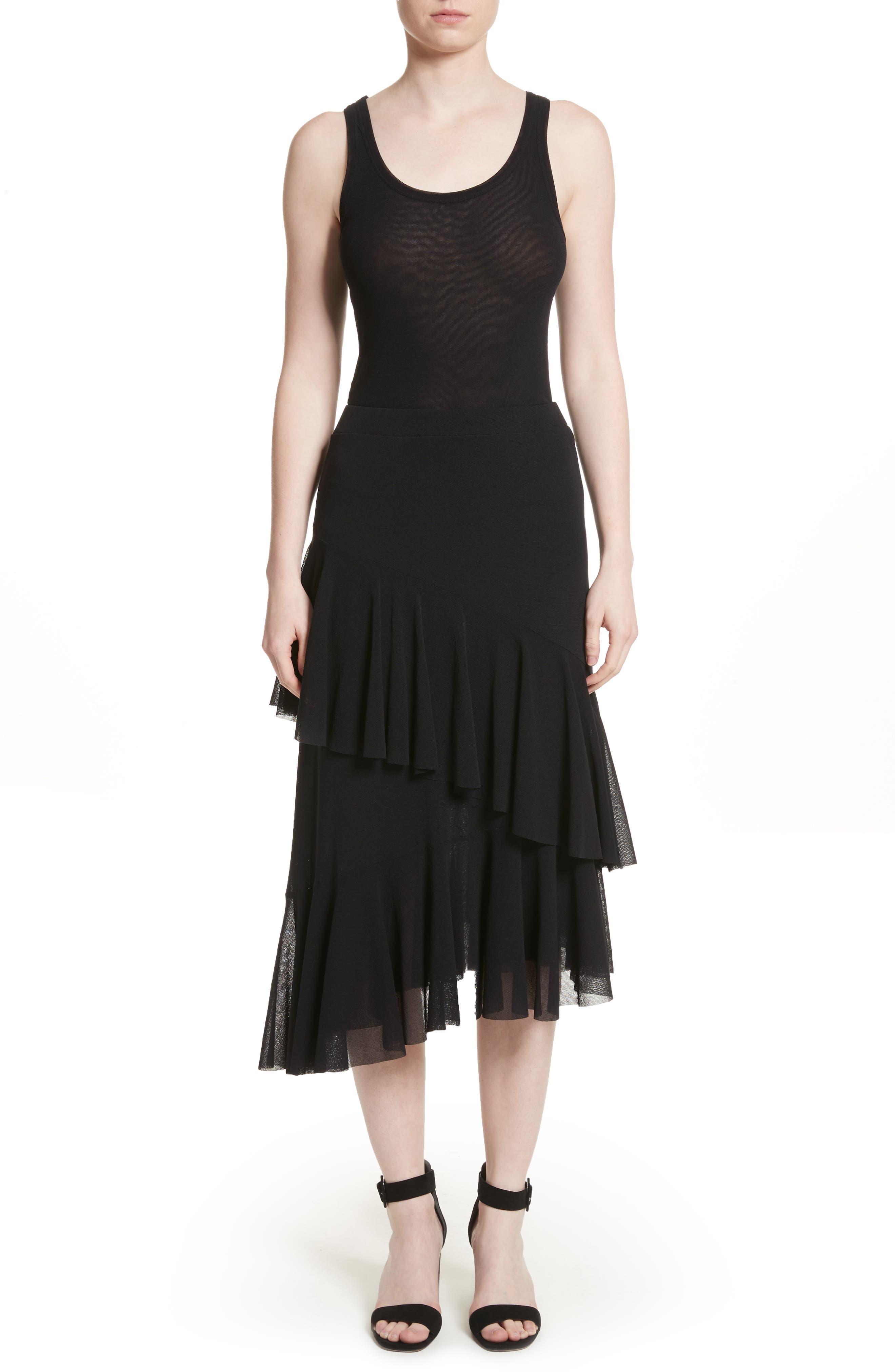 Alternate Image 7  - Fuzzi Ruffle Tulle Midi Skirt