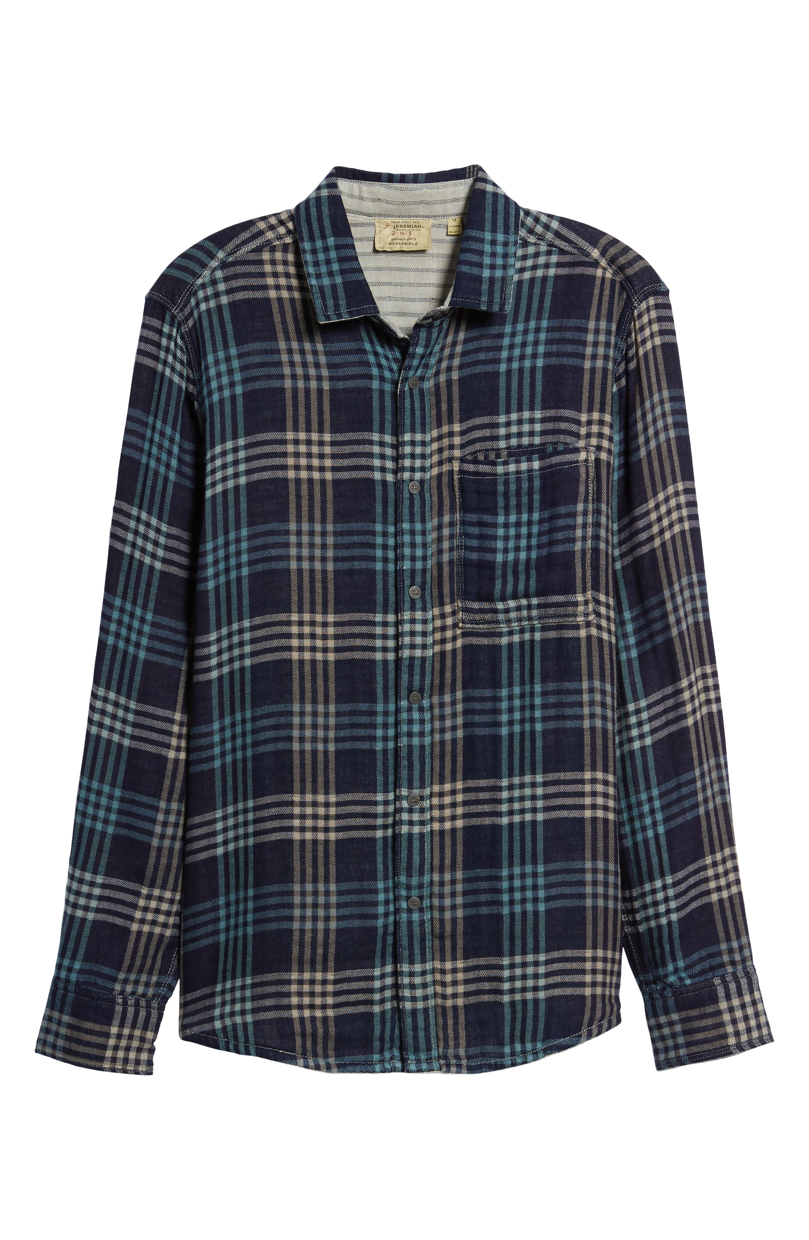 Cypress Reversible Twill Shirt,                             Alternate thumbnail 7, color,                             Inkwell