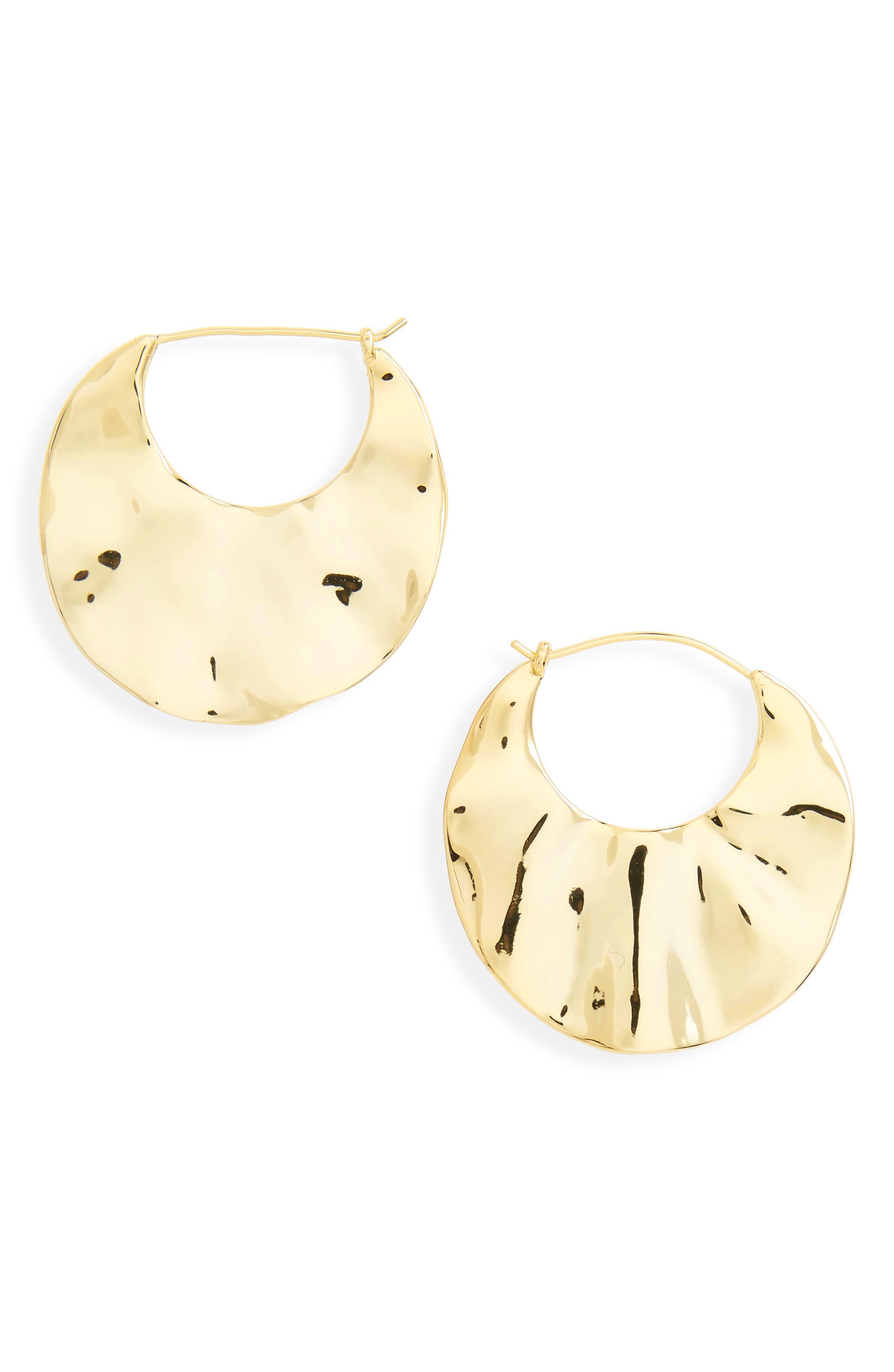 Main Image - gorjana Chloe Crescent Hoop Earrings