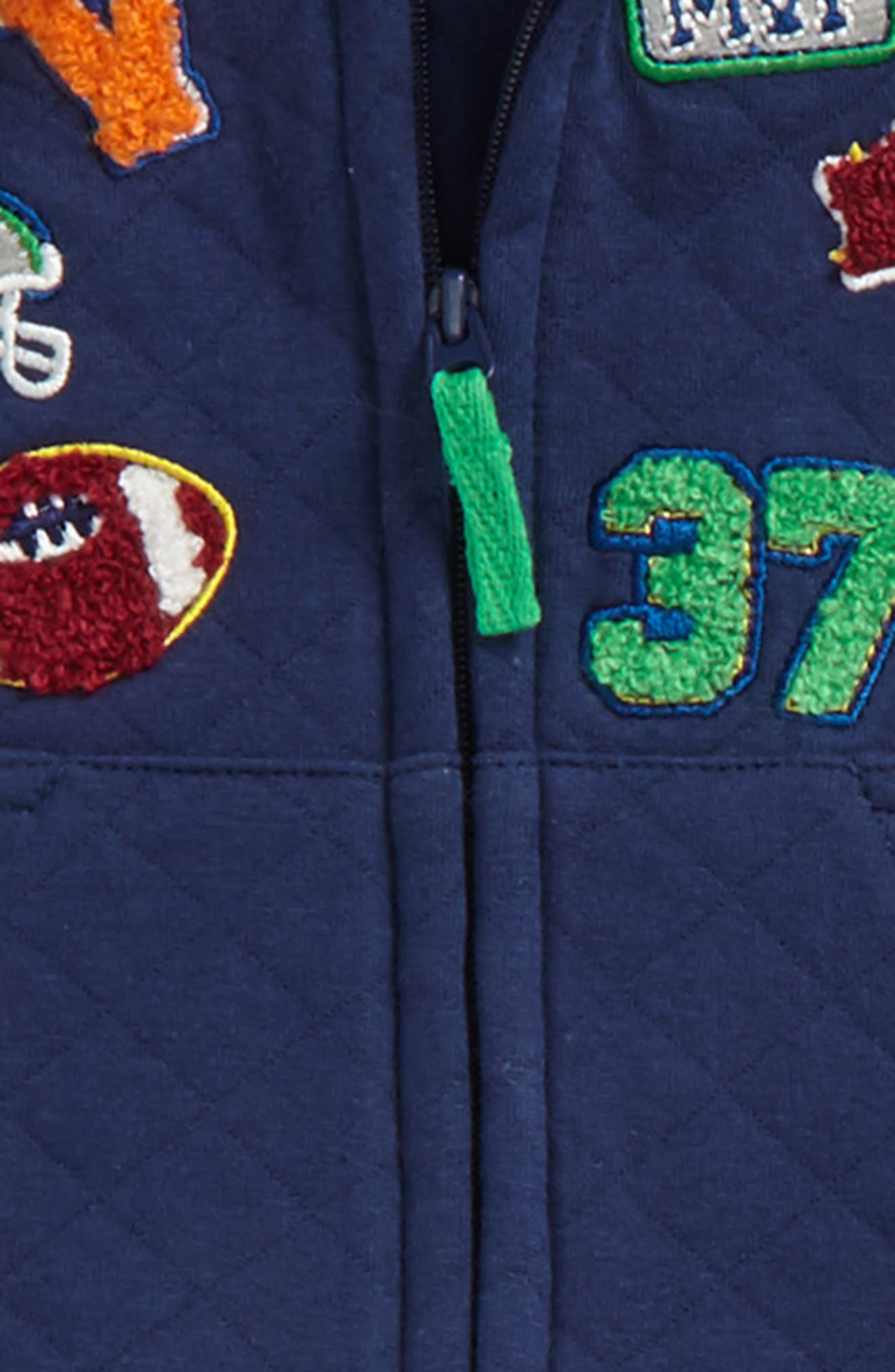 Sports Vest, Bodysuit & Pants Set,                             Alternate thumbnail 2, color,                             Grey Heather Multi
