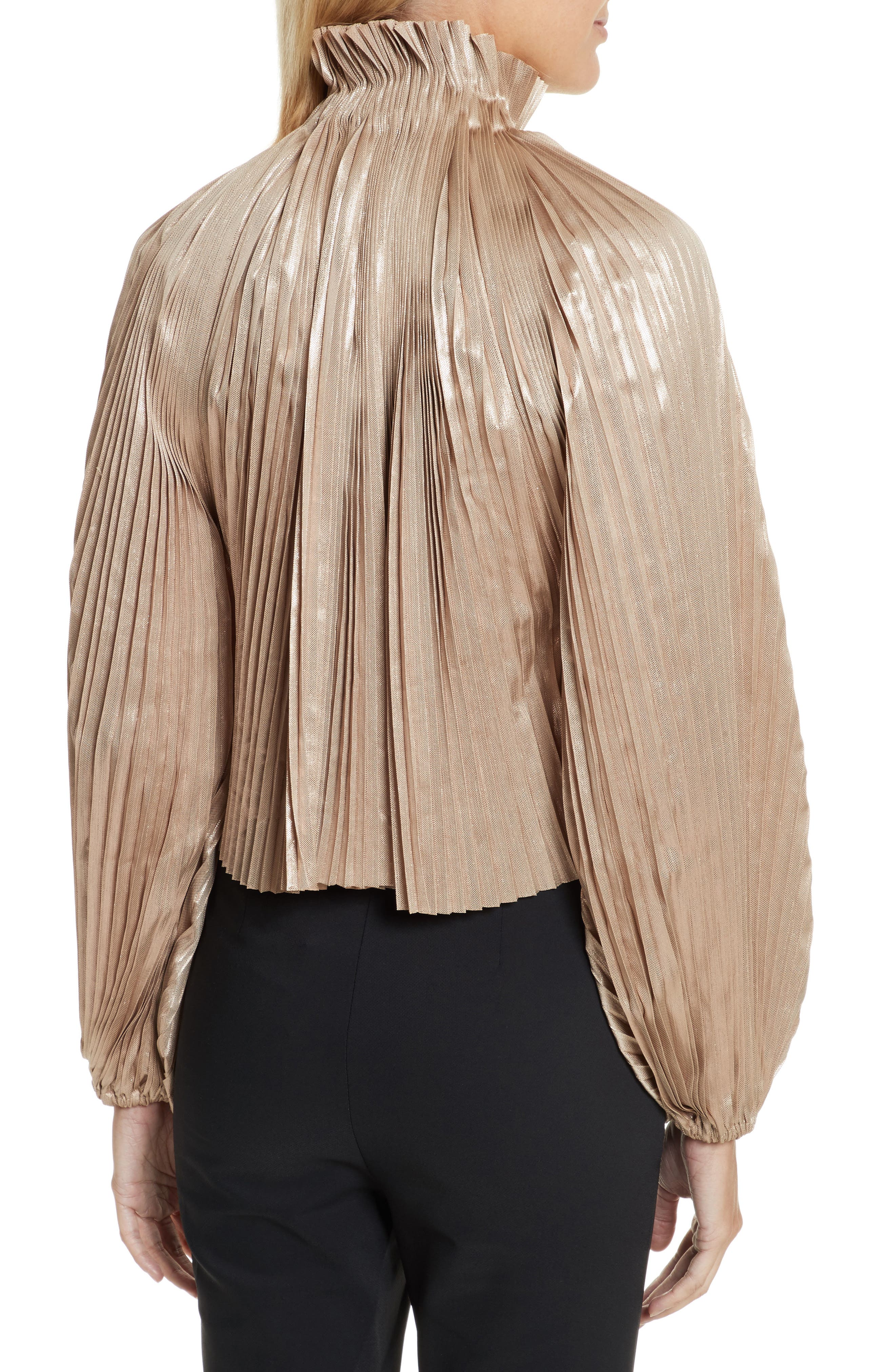 Alternate Image 2  - Opening Ceremony Foil Pleated Top