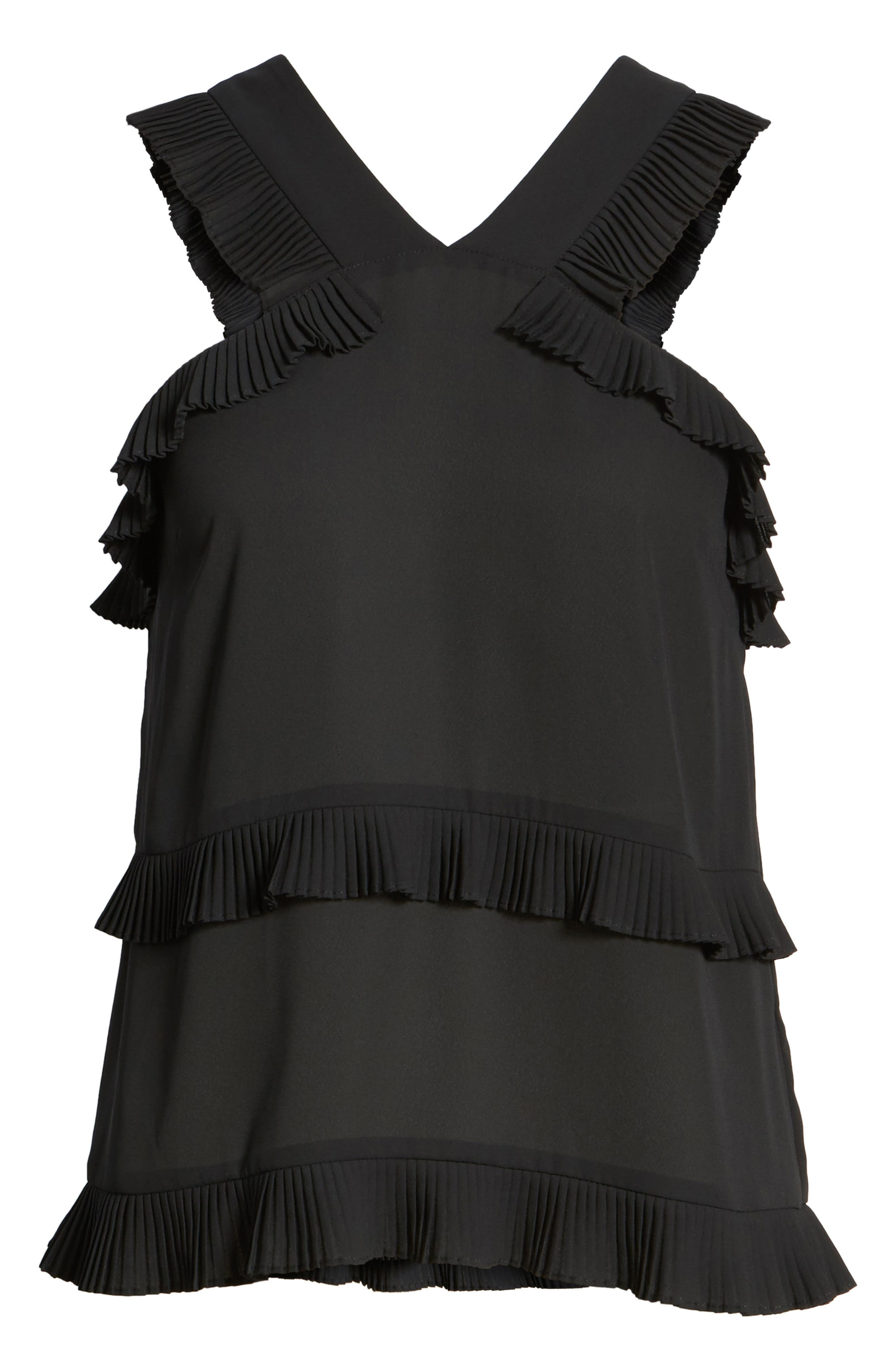 Alternate Image 6  - Trouvé Pleated Ruffle Tank