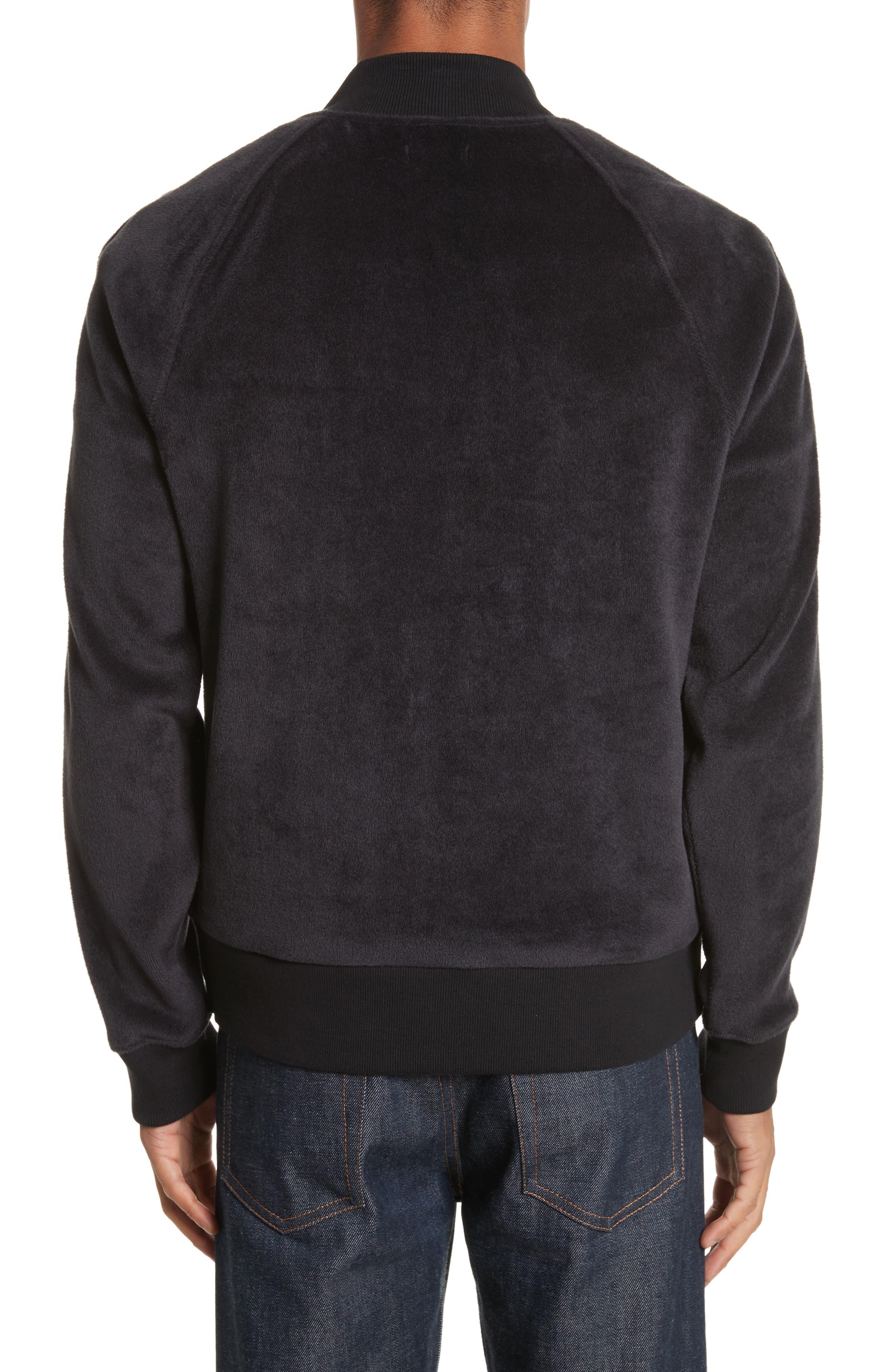 Velour Zip Jacket,                             Alternate thumbnail 2, color,                             Faded Blue