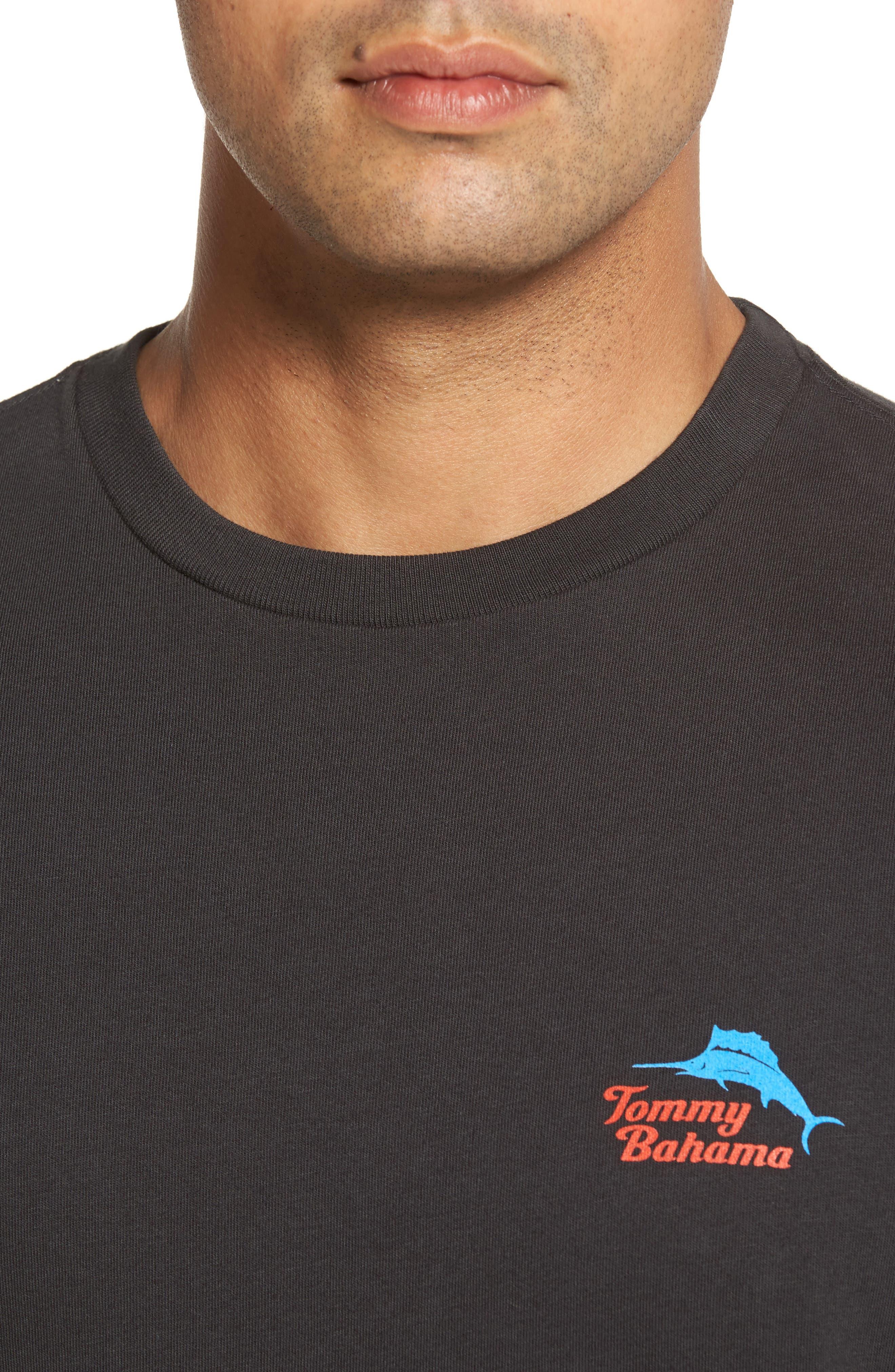 Bands Back T-Shirt,                             Alternate thumbnail 4, color,                             Coal