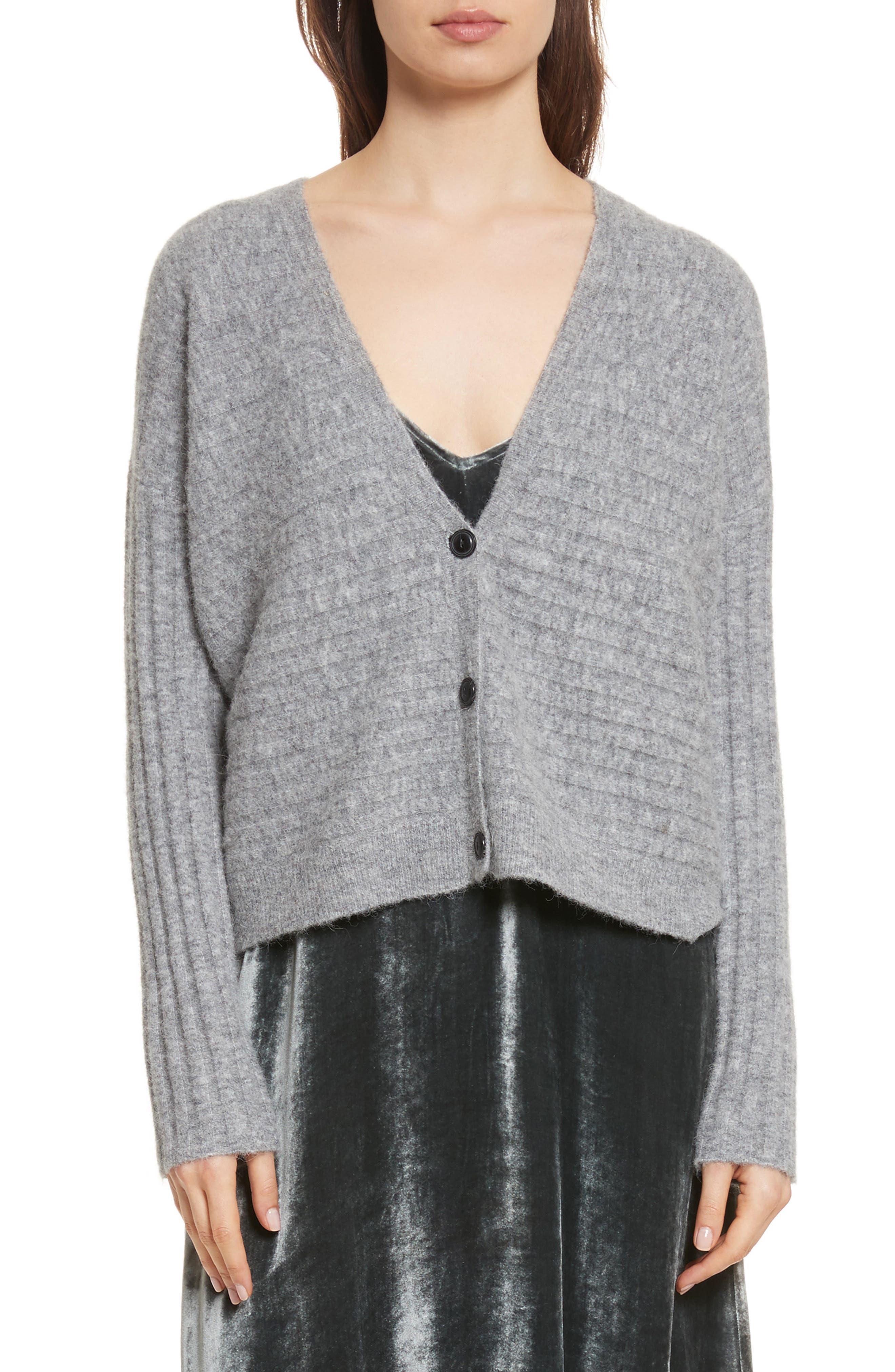 Chenille Cardigan,                         Main,                         color, Grey
