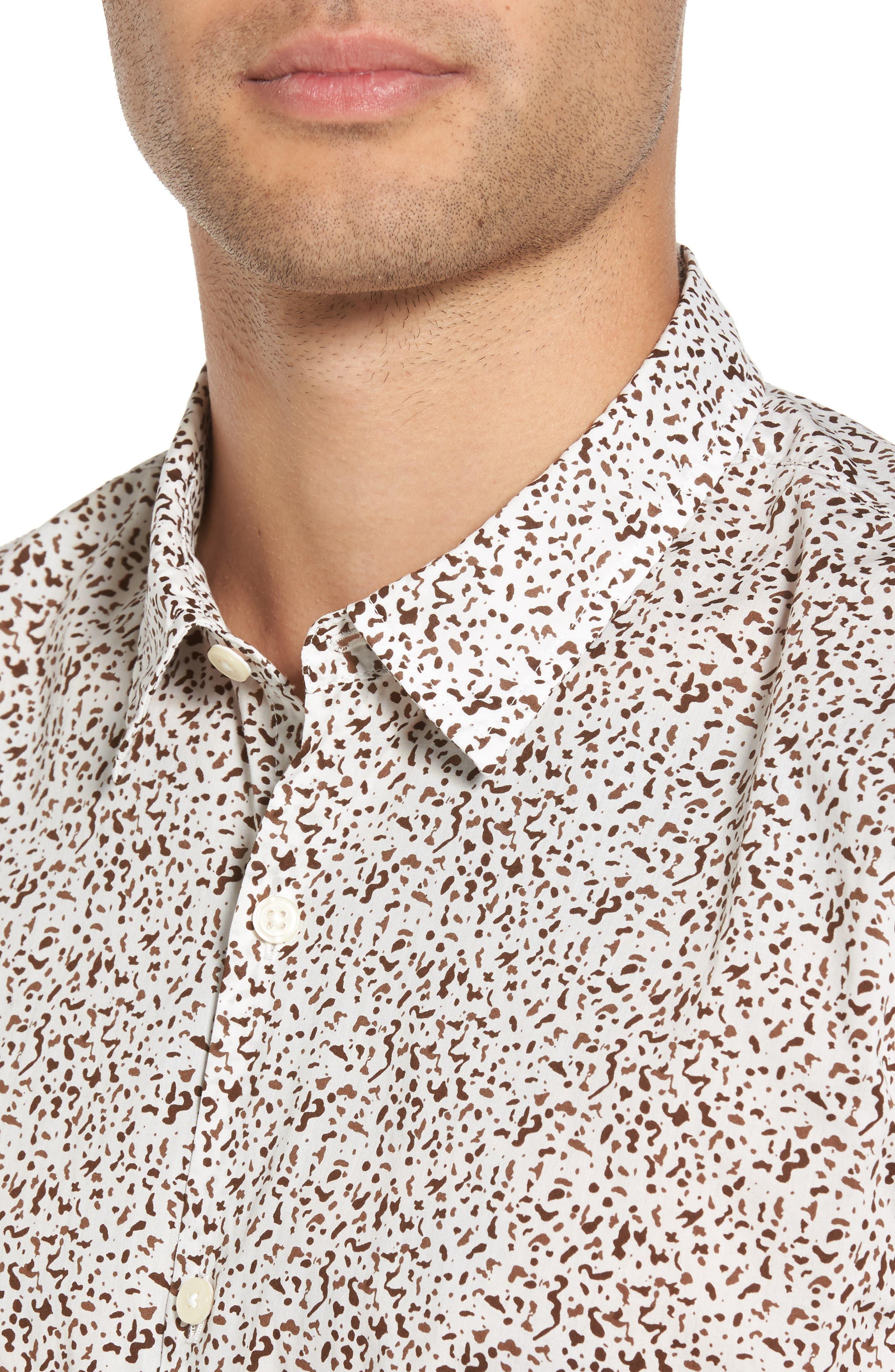Alternate Image 4  - Star USA Slim Fit Animal Print Short Sleeve Sport Shirt