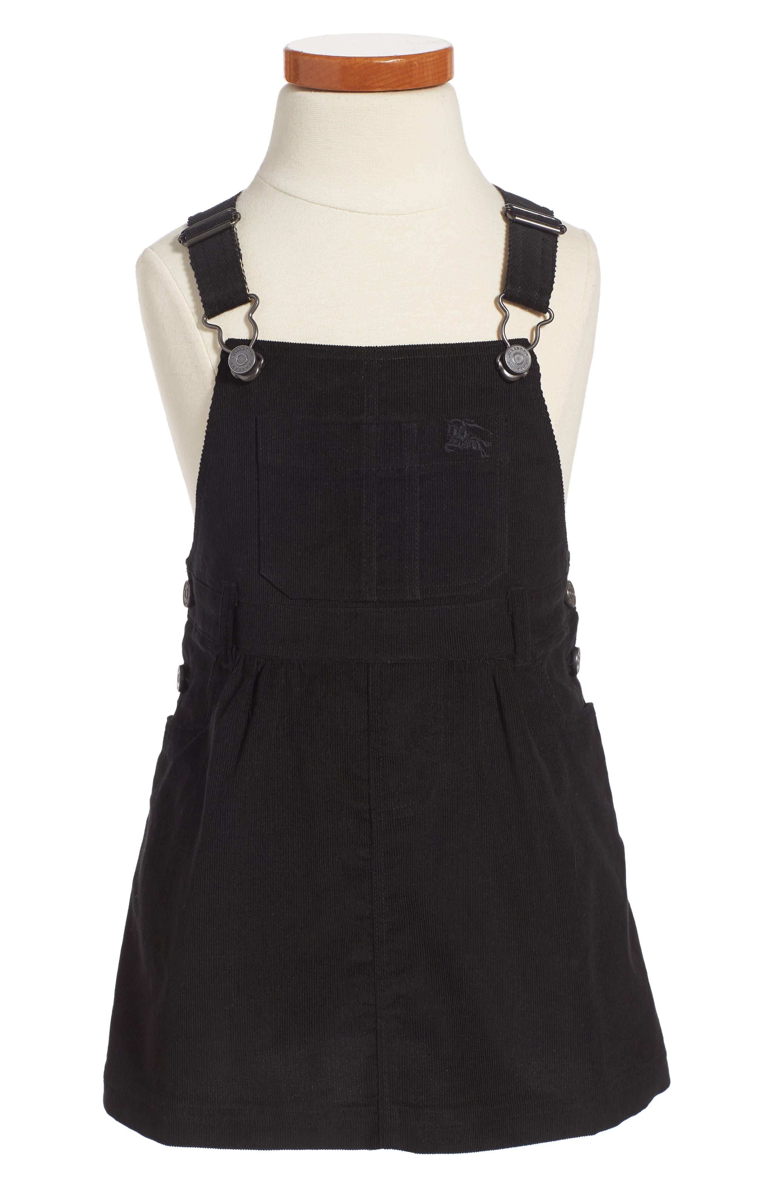 Wilma Overalls Dress,                         Main,                         color, Black