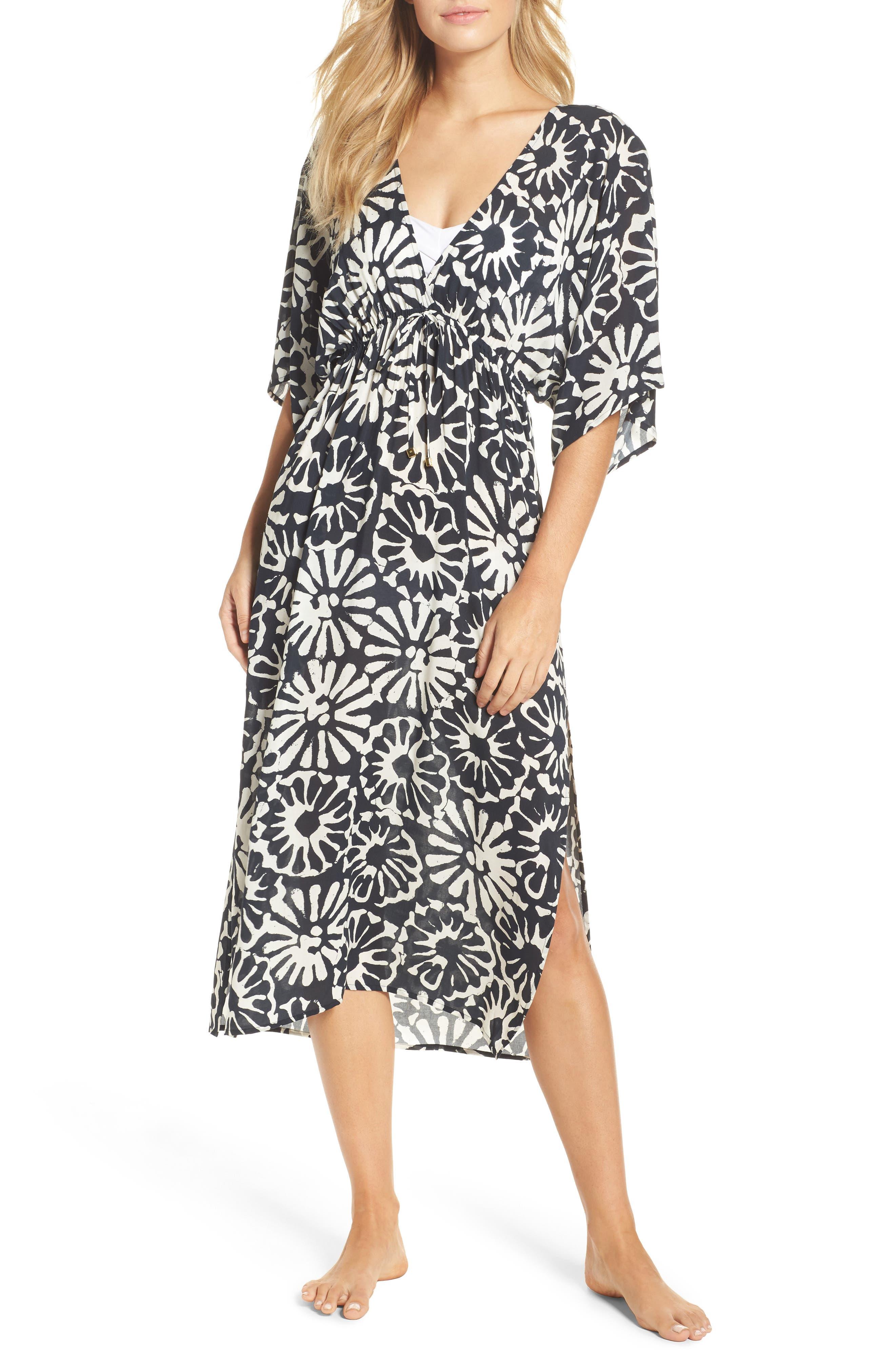 Pomelo Floral Cover-Up Dress,                         Main,                         color, Ivory Pomelo Floral