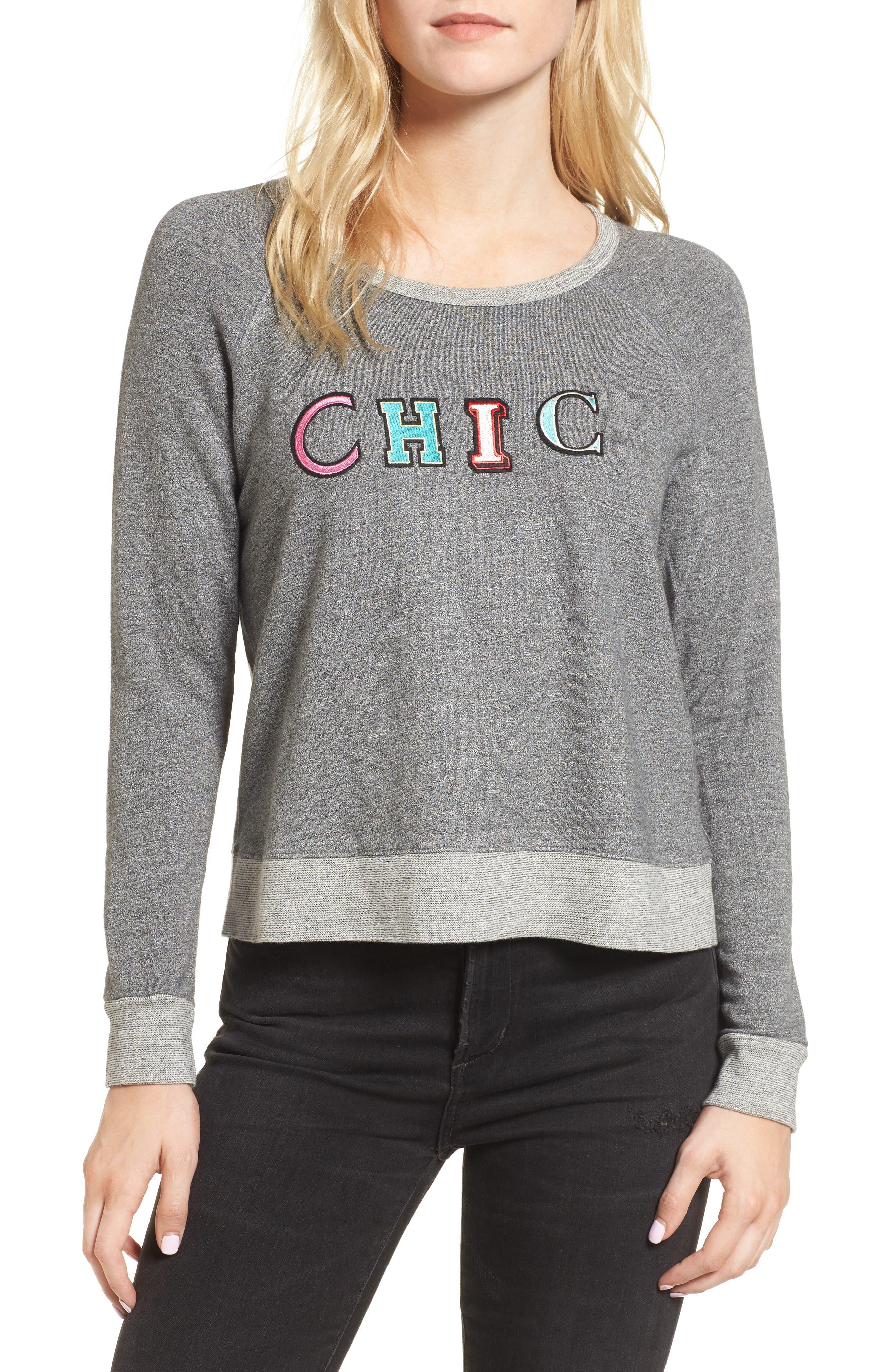 Main Image - Sundry Chic Crop Sweatshirt