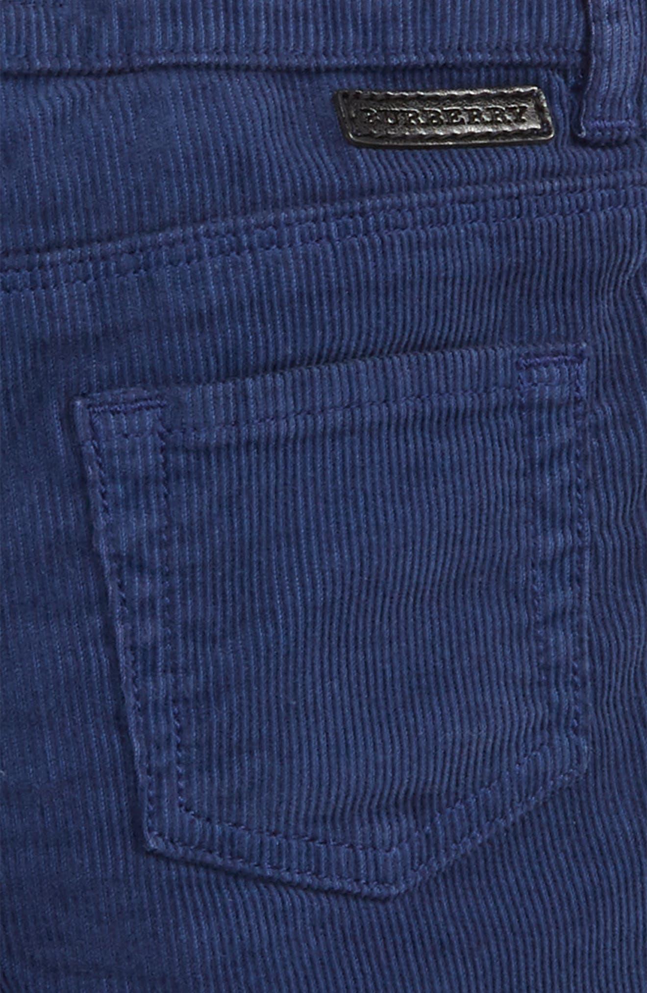 Langston Corduroy Skinny Pants,                             Alternate thumbnail 3, color,                             Blue