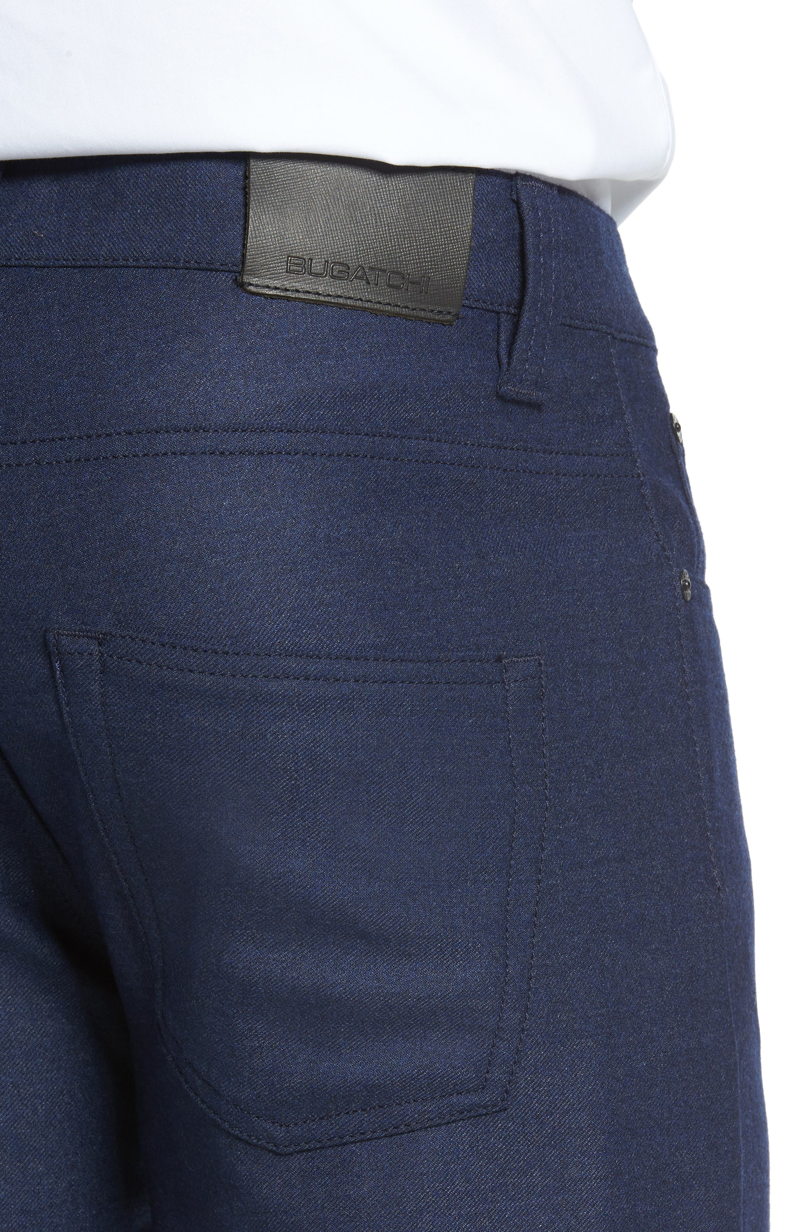 Wool Blend Pants,                             Alternate thumbnail 4, color,                             Navy