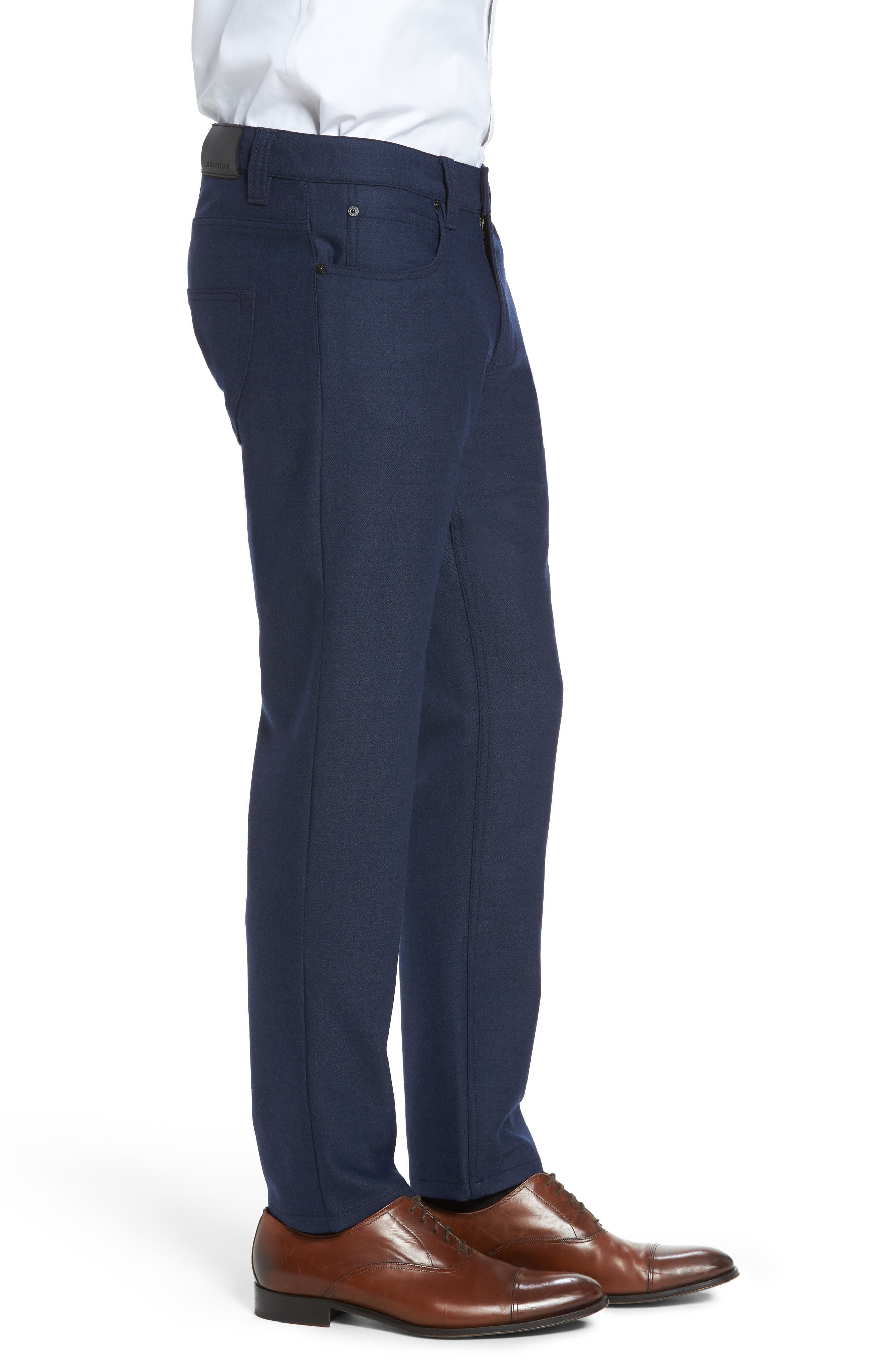 Wool Blend Pants,                             Alternate thumbnail 3, color,                             Navy