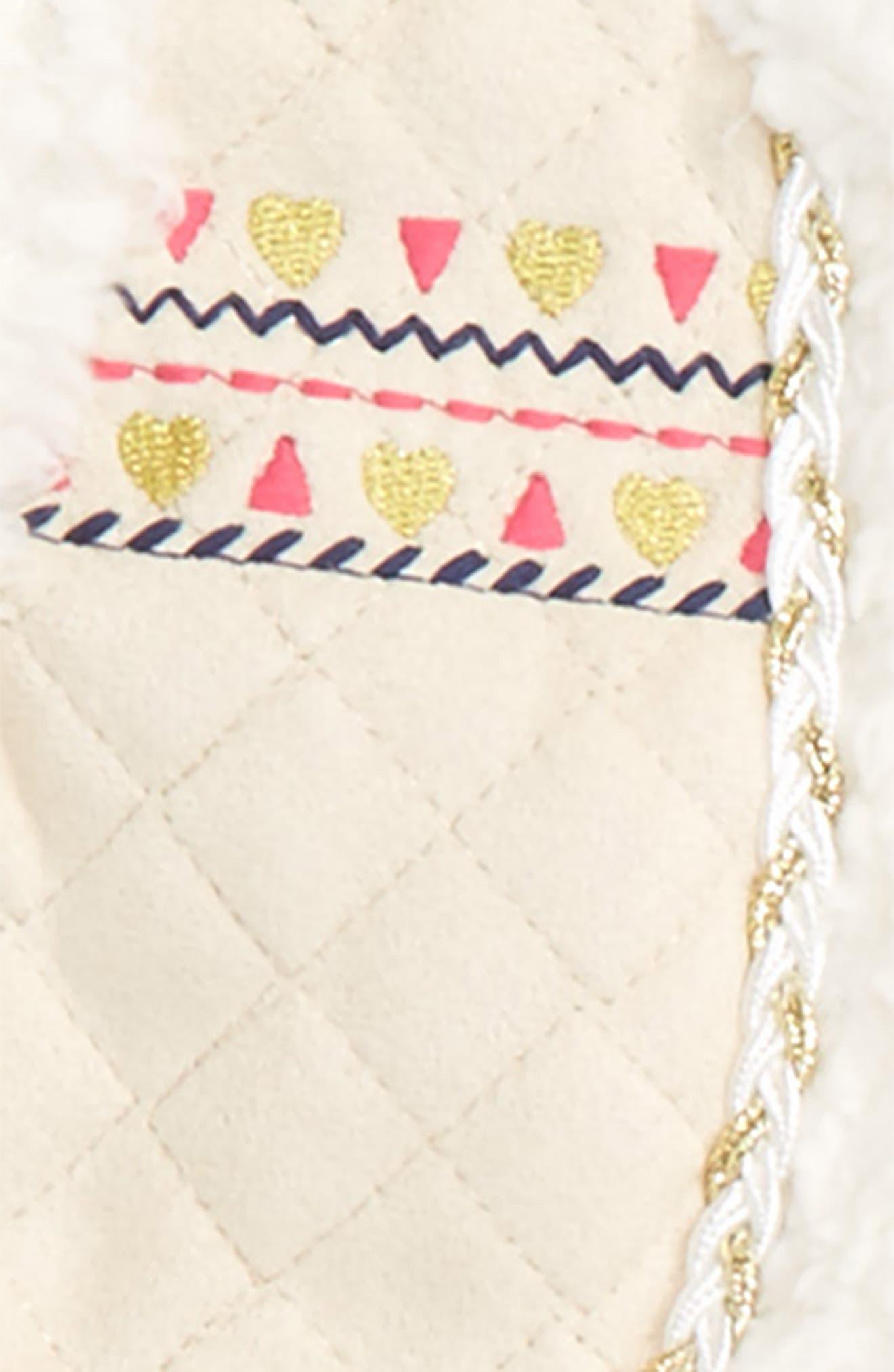 Alternate Image 2  - Little Me Vest, Long Sleeve Shirt & Leggings Set (Baby Girls)