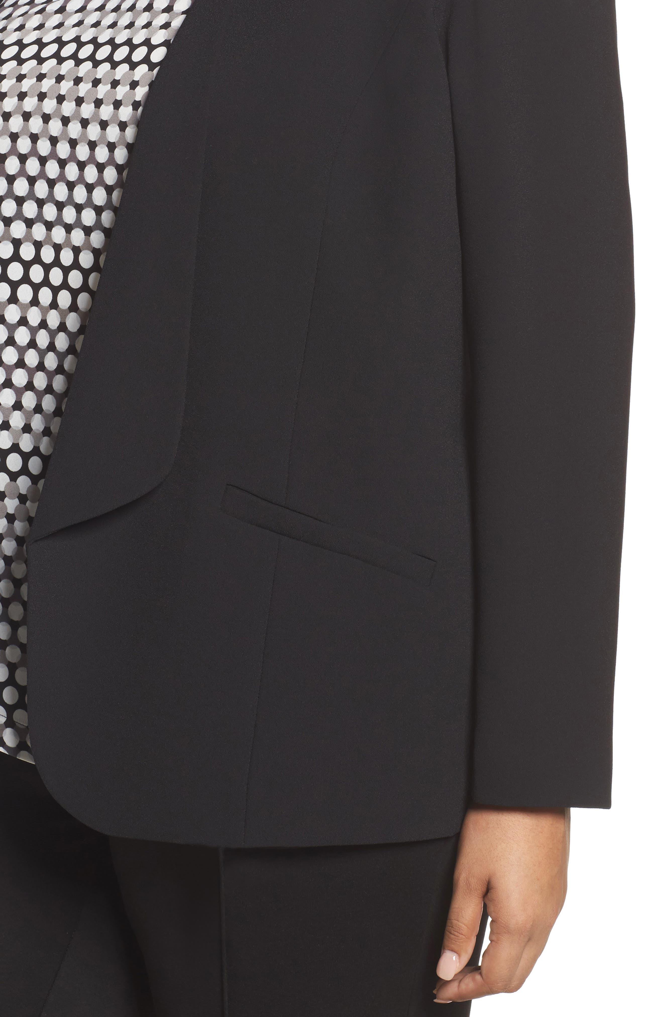 Alternate Image 4  - Sejour Drape Front Crepe Jacket (Plus Size)