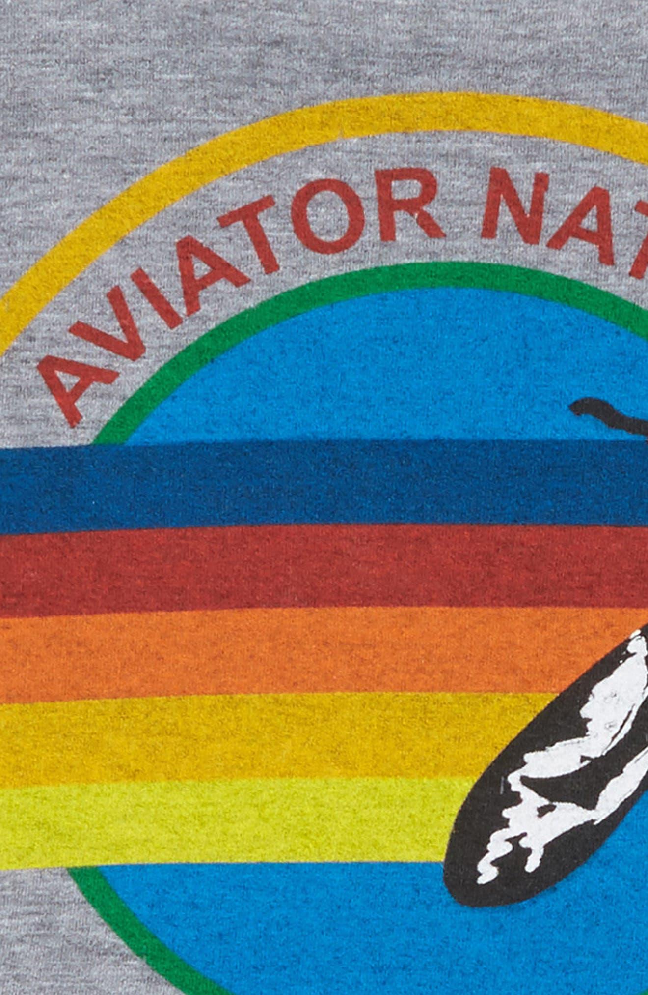 Alternate Image 2  - Aviator Nation Screenprint Tee (Toddler Girls, Little Girls & Big Girls)