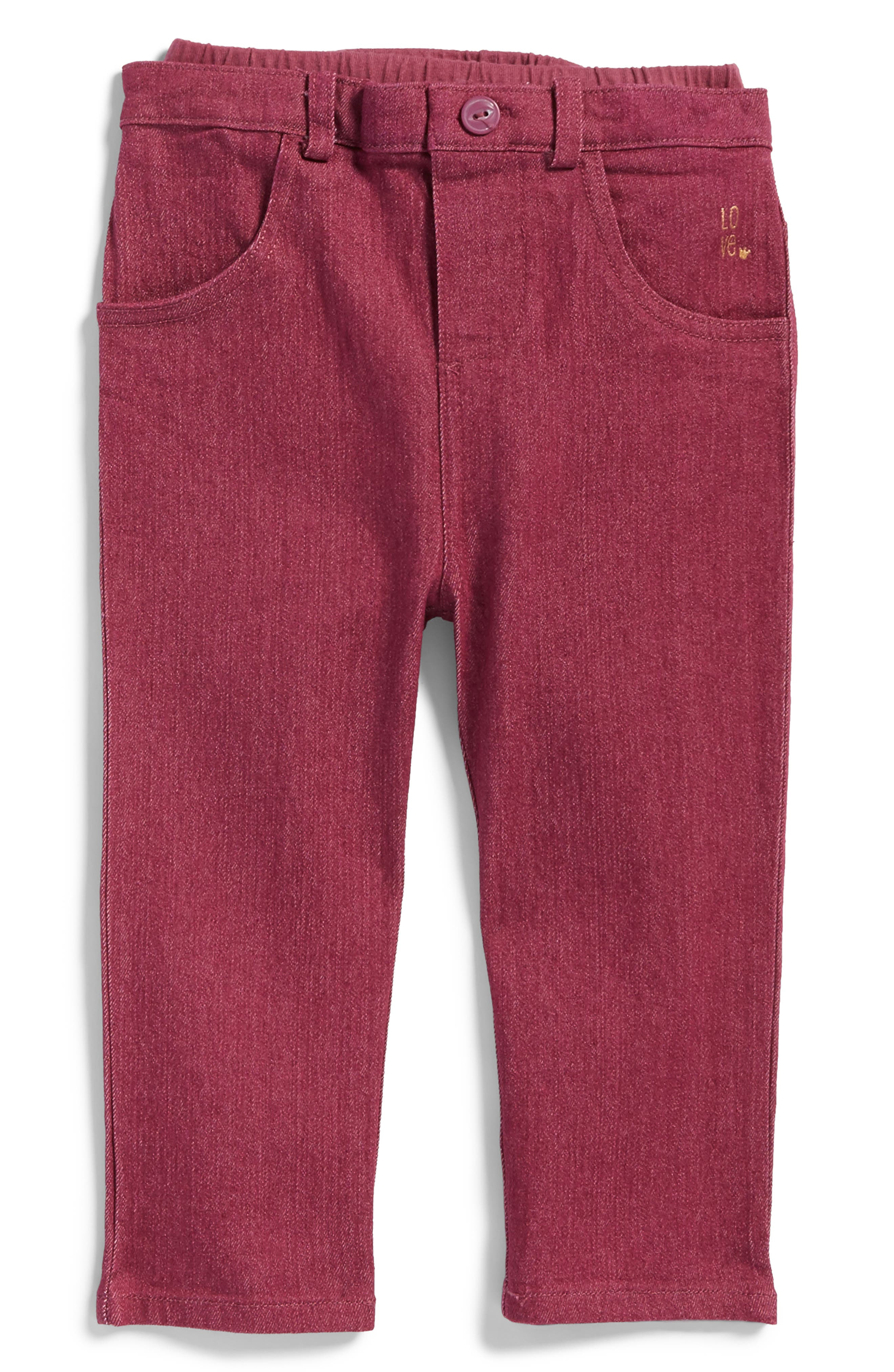 Soft Jeans,                             Main thumbnail 1, color,                             Maroon