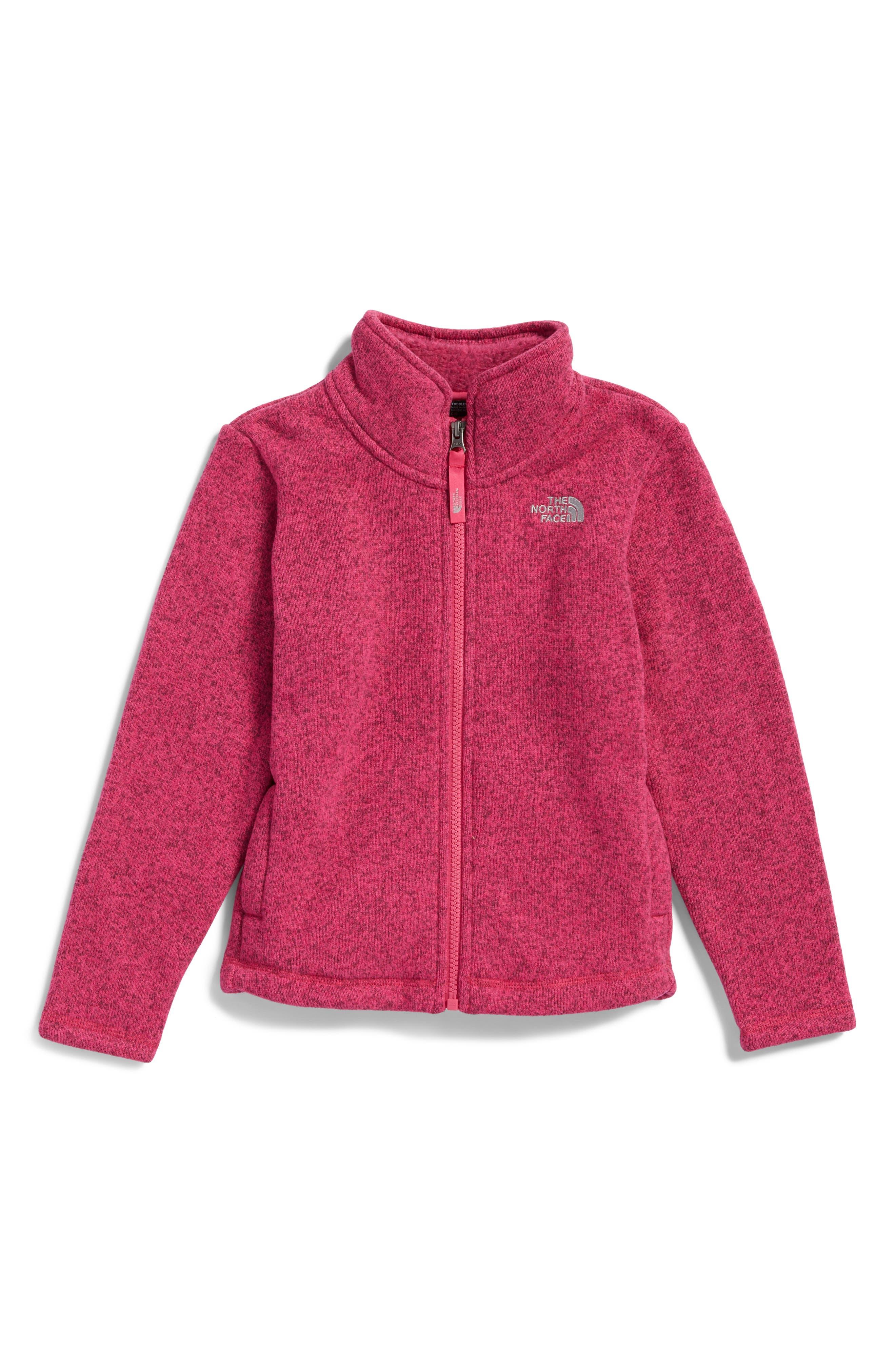 Alternate Image 1 Selected - The North Face Crescent Fleece Jacket (Toddler Girls & Little Girls)