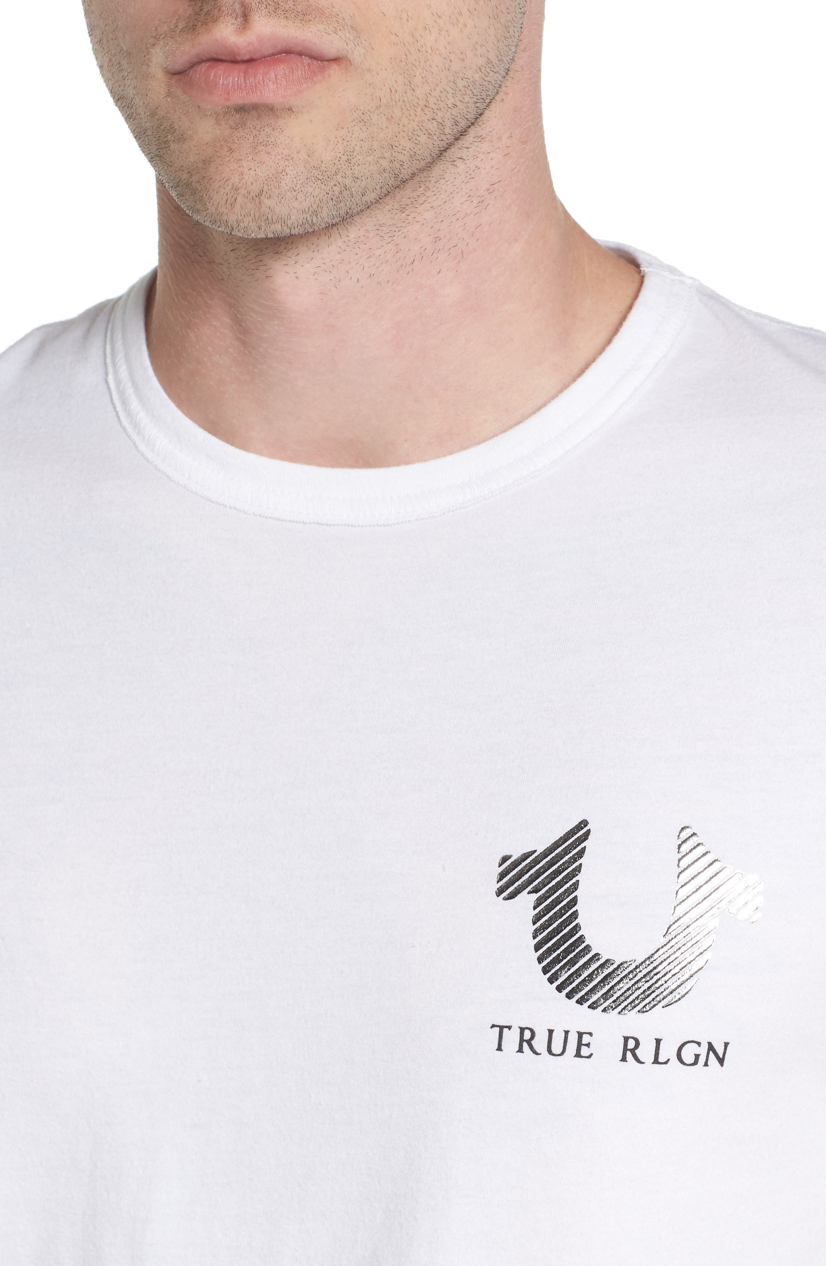 Logo Graphic T-Shirt,                             Alternate thumbnail 4, color,                             White