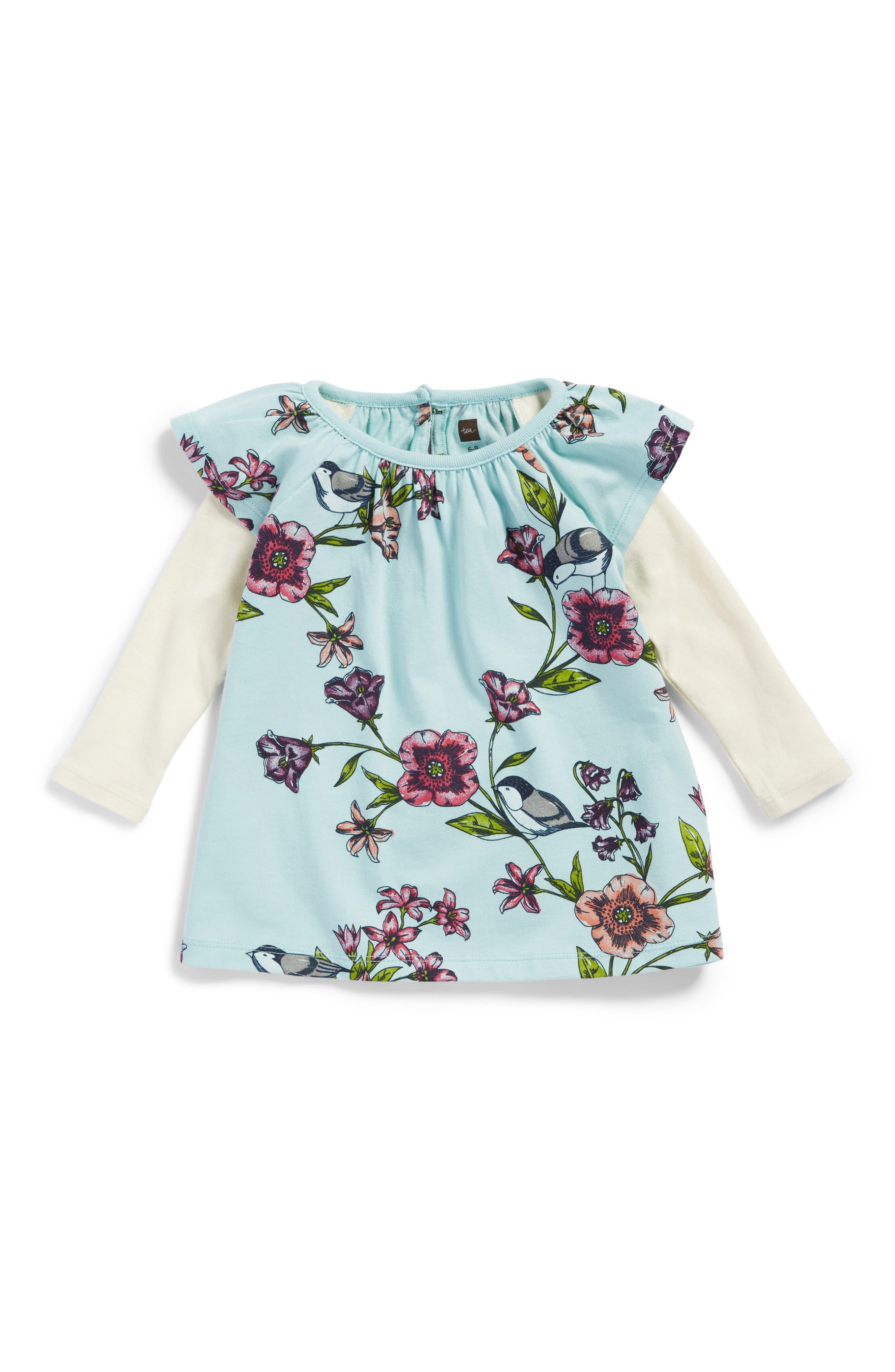 Tea Collection Glenna Flutter Dress (Baby Girls)