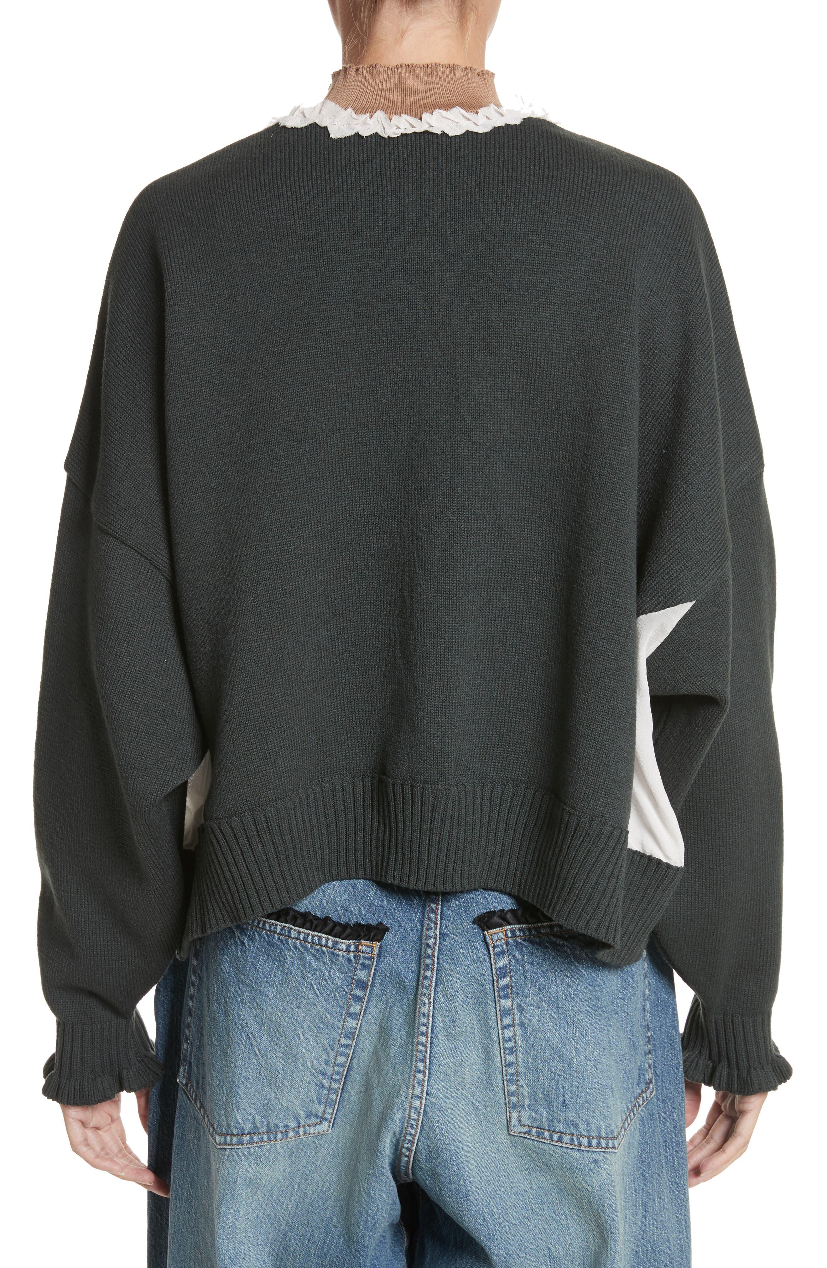 Alternate Image 2  - Undercover Ruffled Mock Neck Sweater