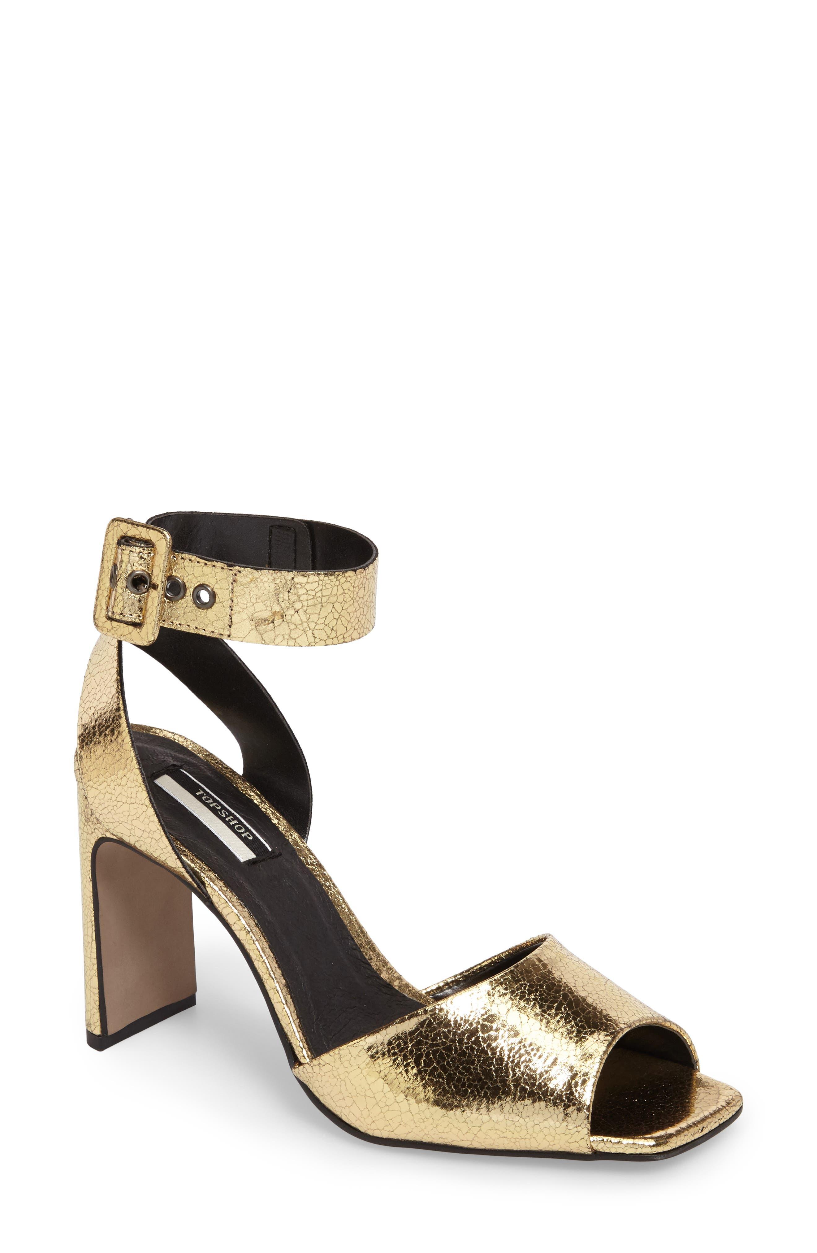 Topshop Roux Square Toe Sandal (Women)