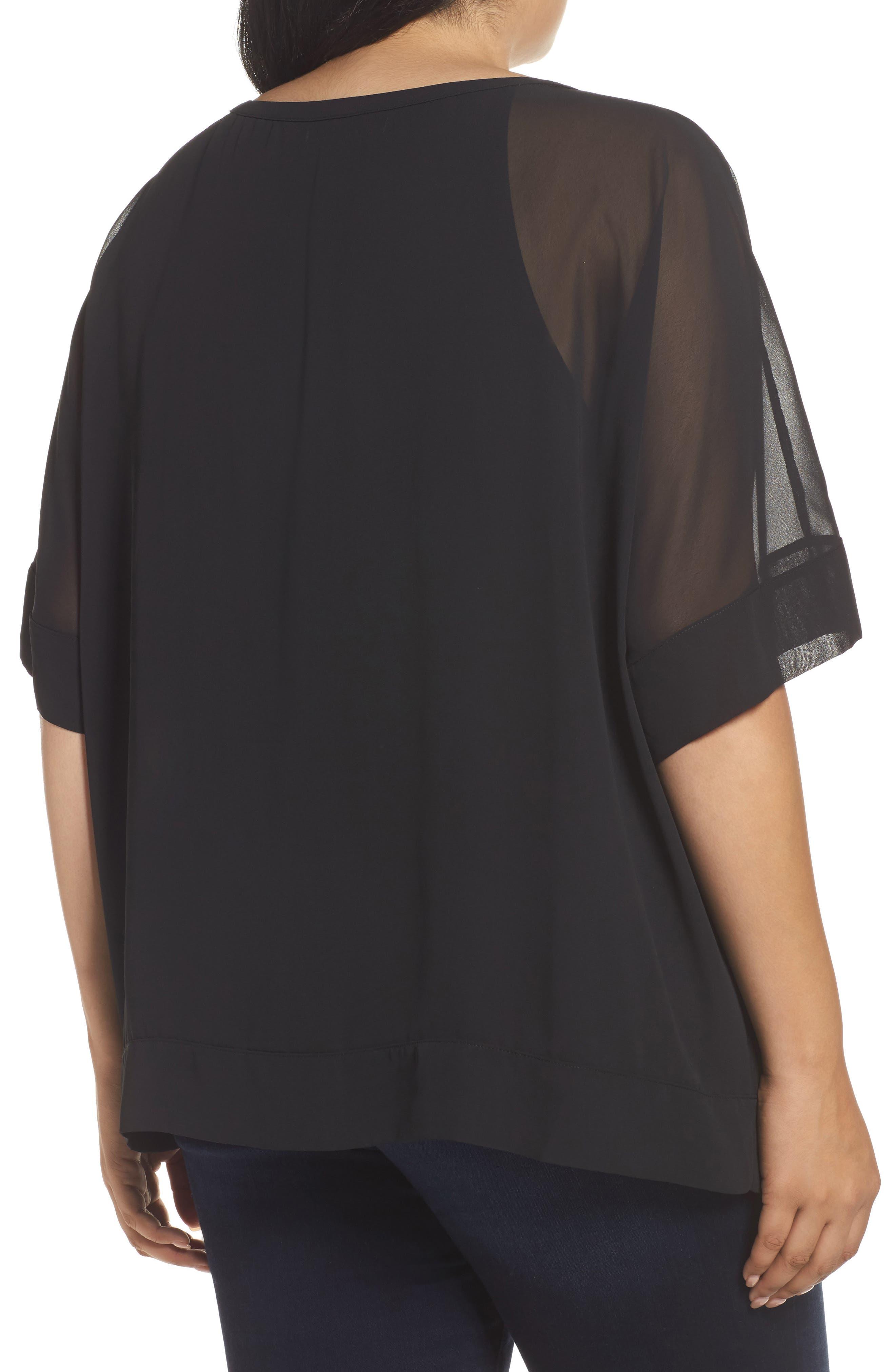 Alternate Image 2  - Sejour Kimono Layered Top (Plus Size)