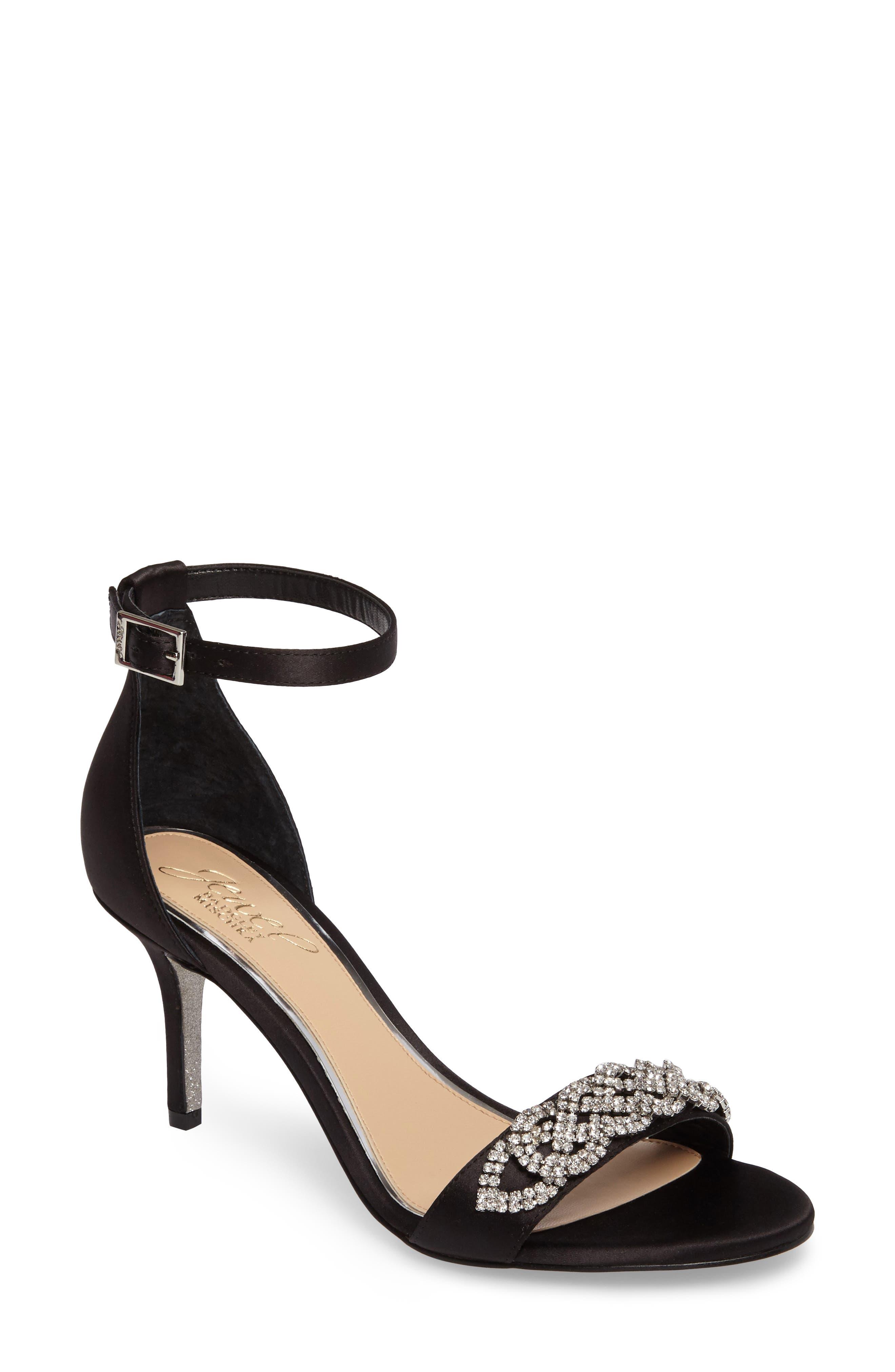 Alternate Image 1 Selected - Jewel Badgley Mischka Alana Ankle Strap Sandal (Women)