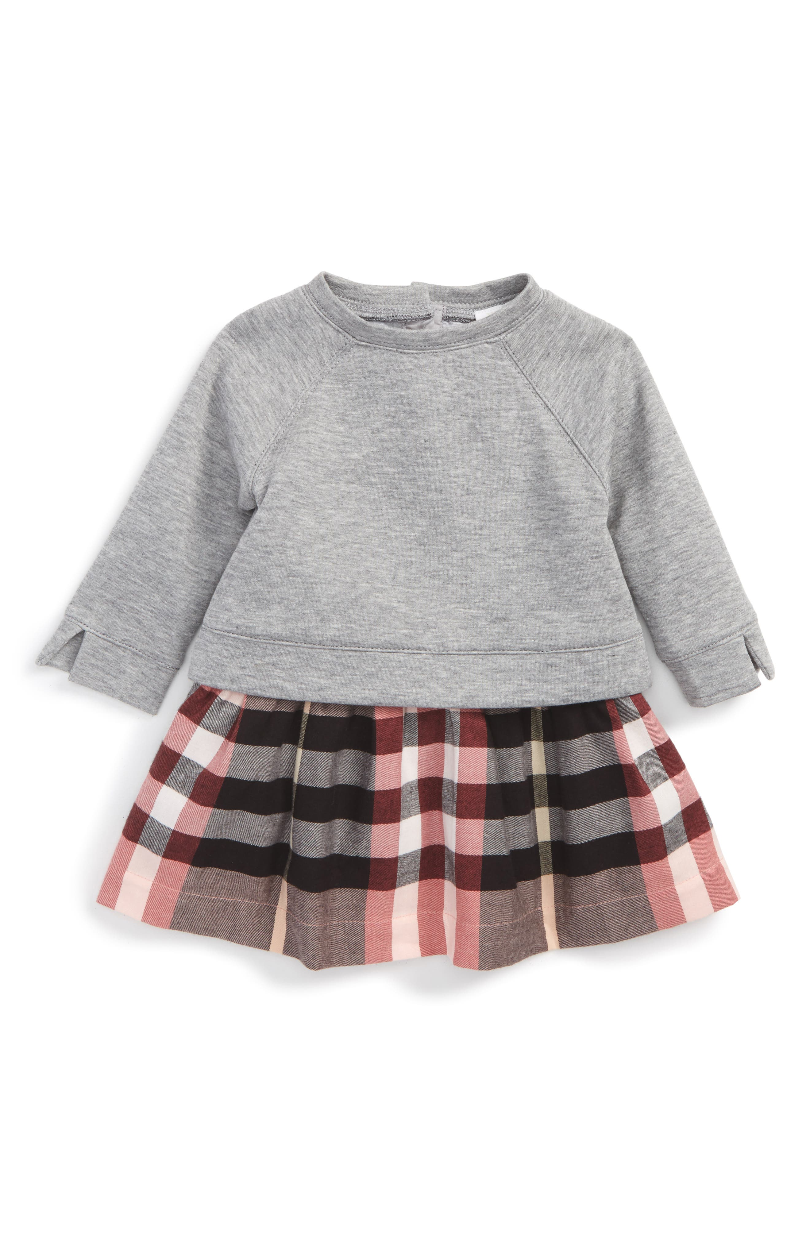 Mini Francine Dress,                         Main,                         color, Dusty Pink