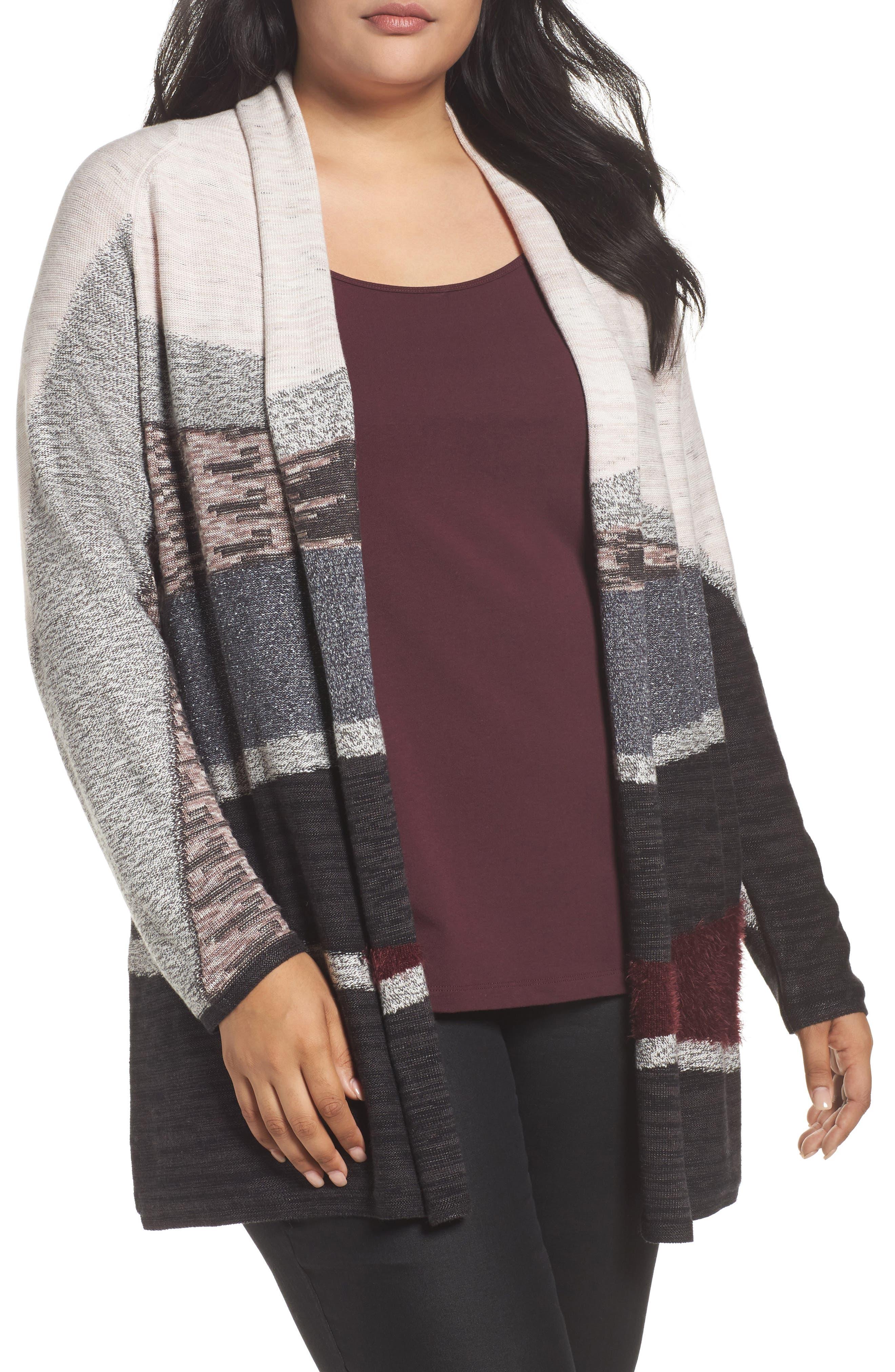 Main Image - NIC+ZOE Dynasty Cardigan (Plus Size)