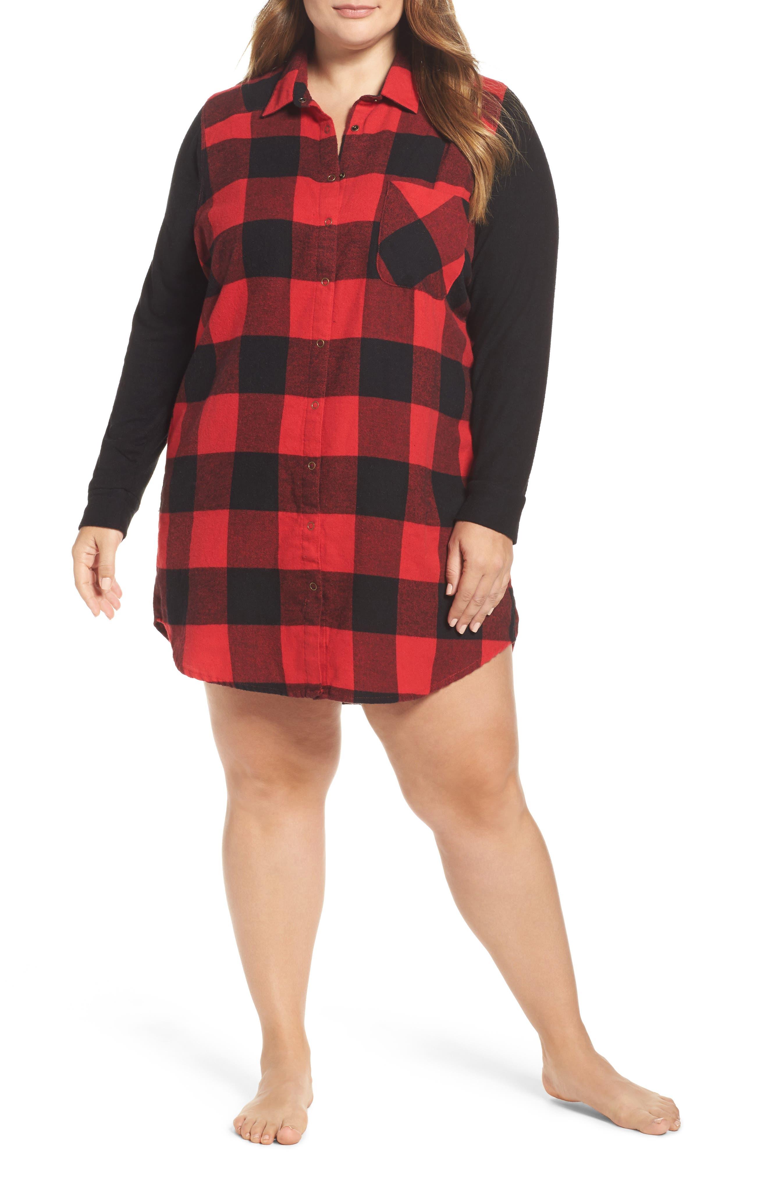 Make + Model Flannel Nightshirt (Plus Size)