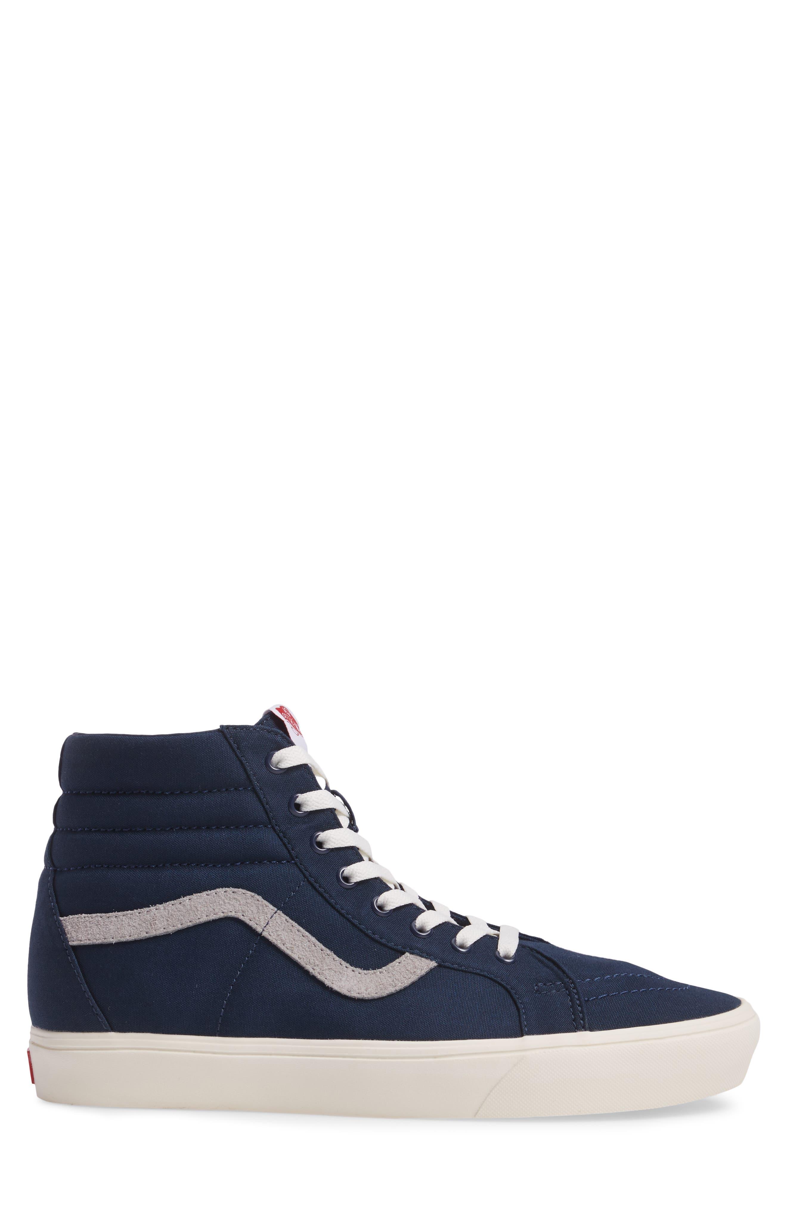 Sk80-Hi Reissue Lite Sneaker,                             Alternate thumbnail 3, color,                             Dress Blues/Marshmallow Canvas