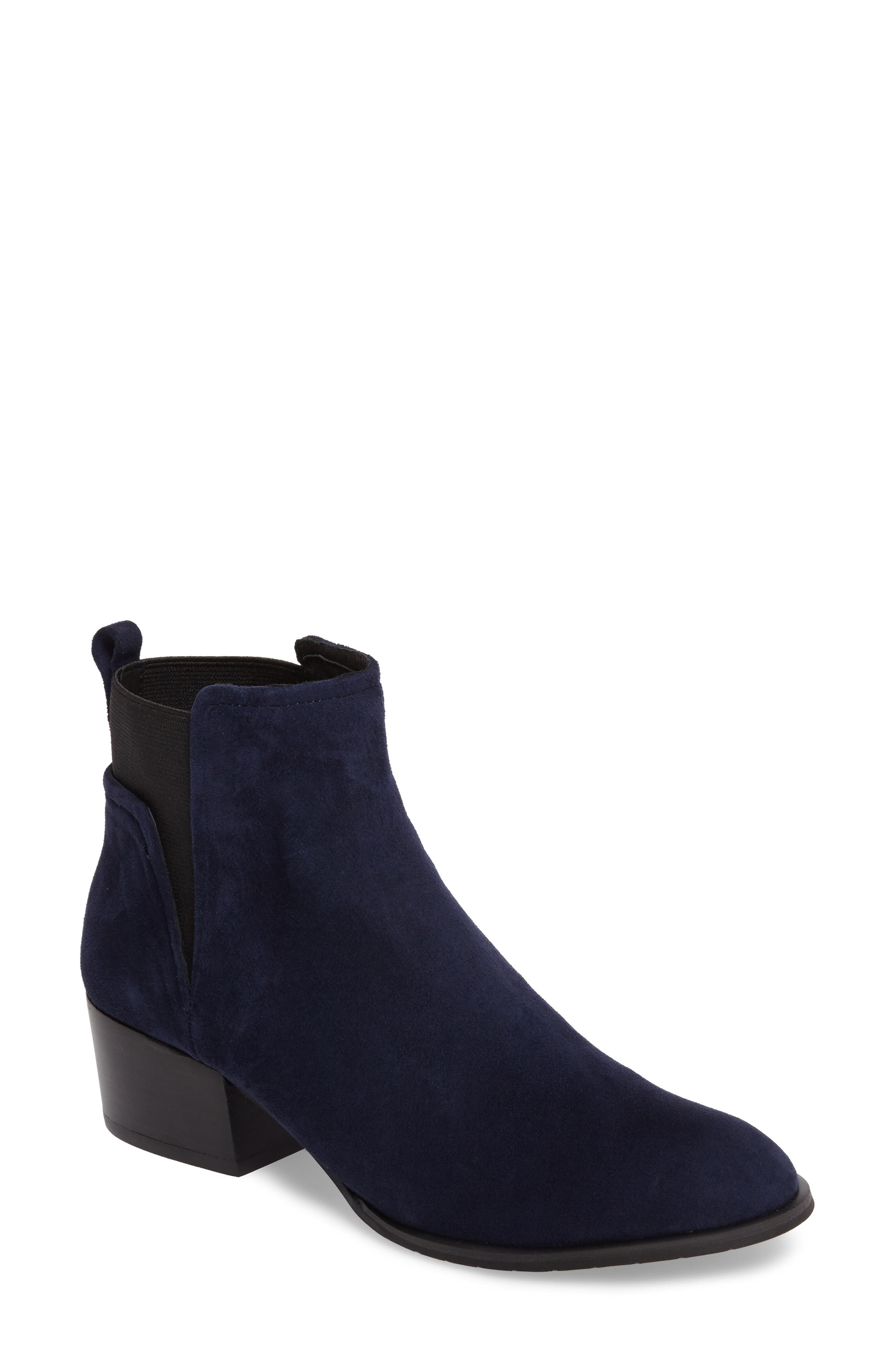 Artie Bootie,                             Main thumbnail 1, color,                             Navy Suede