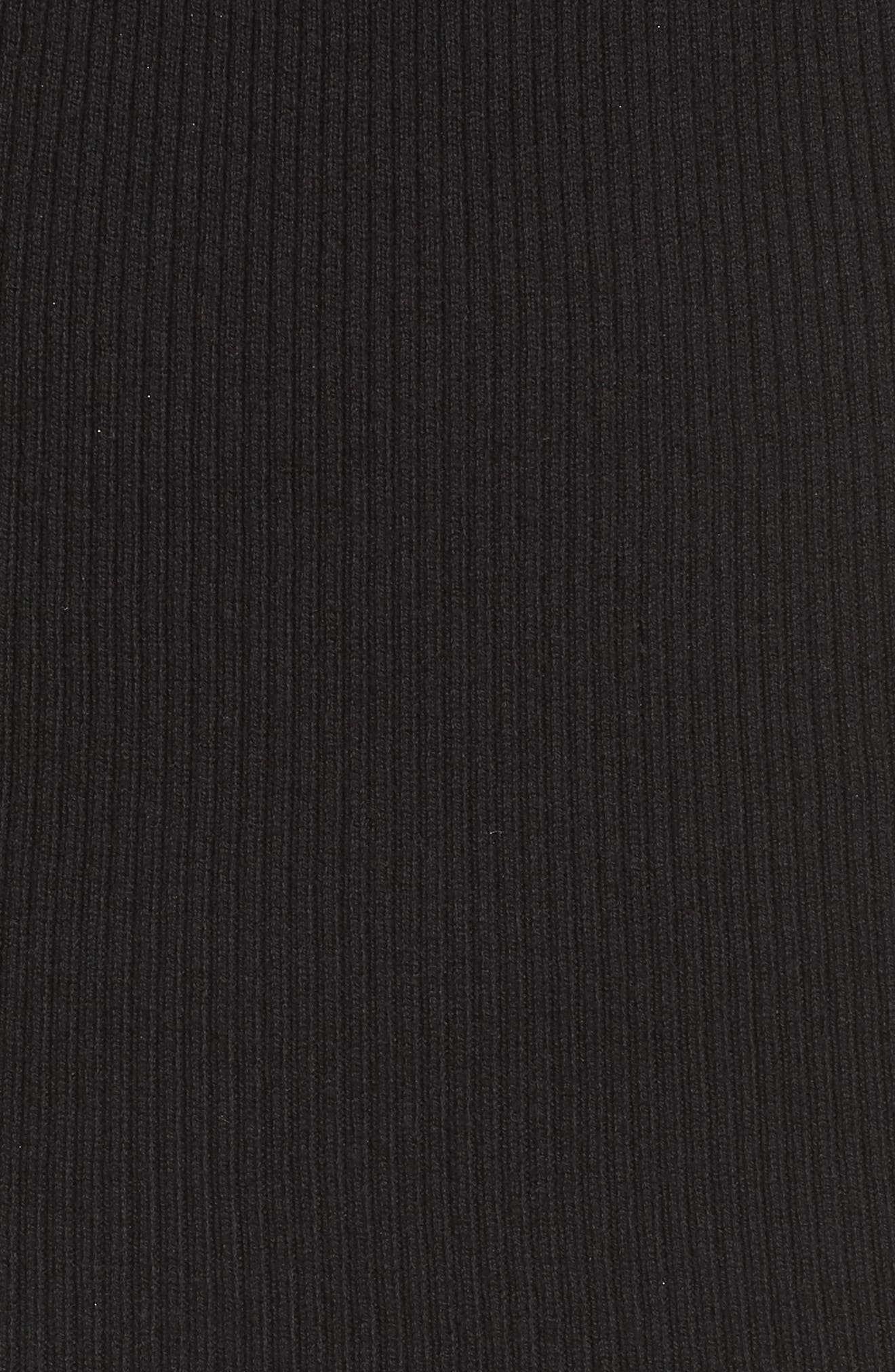 Slipdress with Shrug Sweater,                             Alternate thumbnail 5, color,                             Black