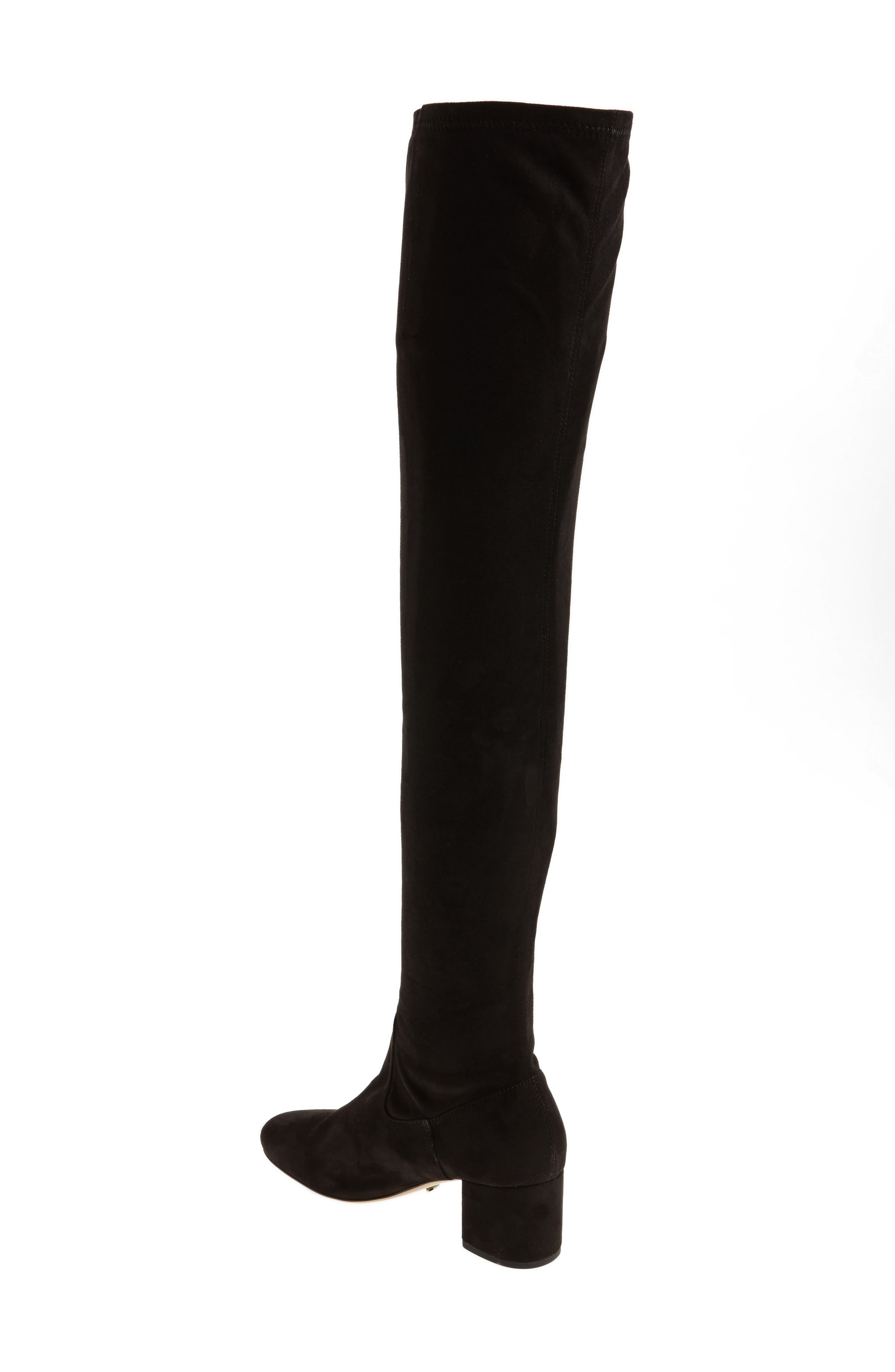 Amani Over the Knee Boot,                             Alternate thumbnail 2, color,                             Black Suede