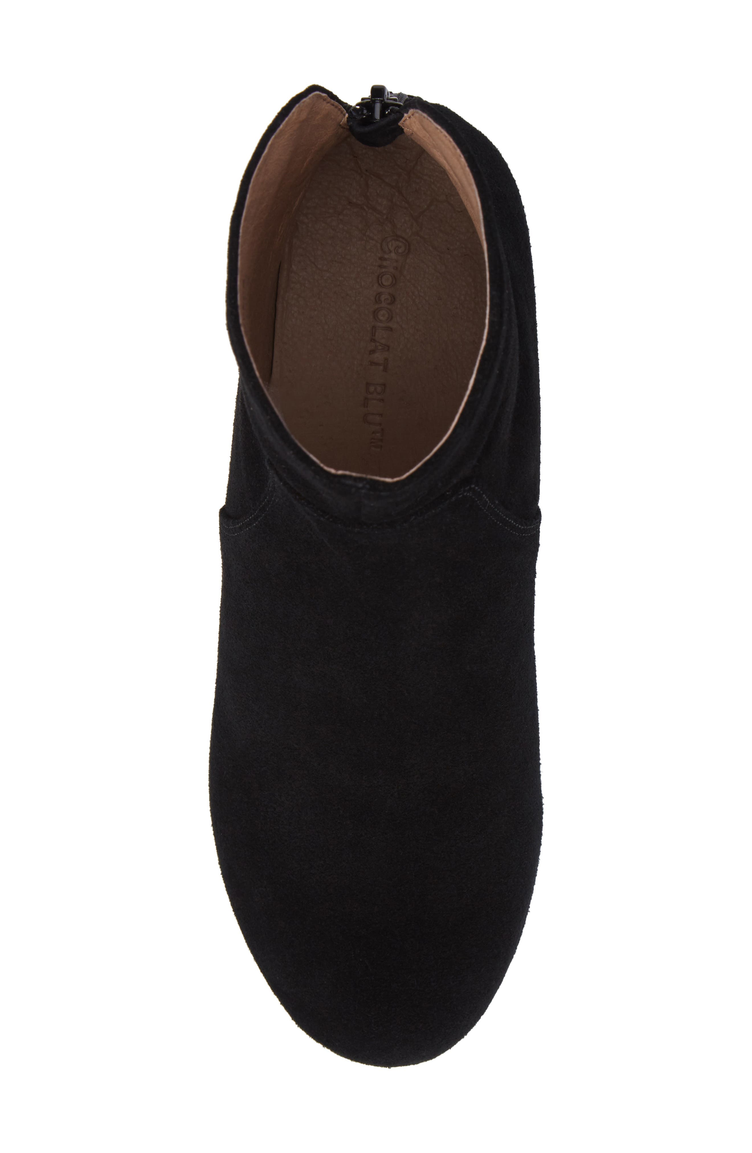 Yarden Wedge Bootie,                             Alternate thumbnail 5, color,                             Black Suede