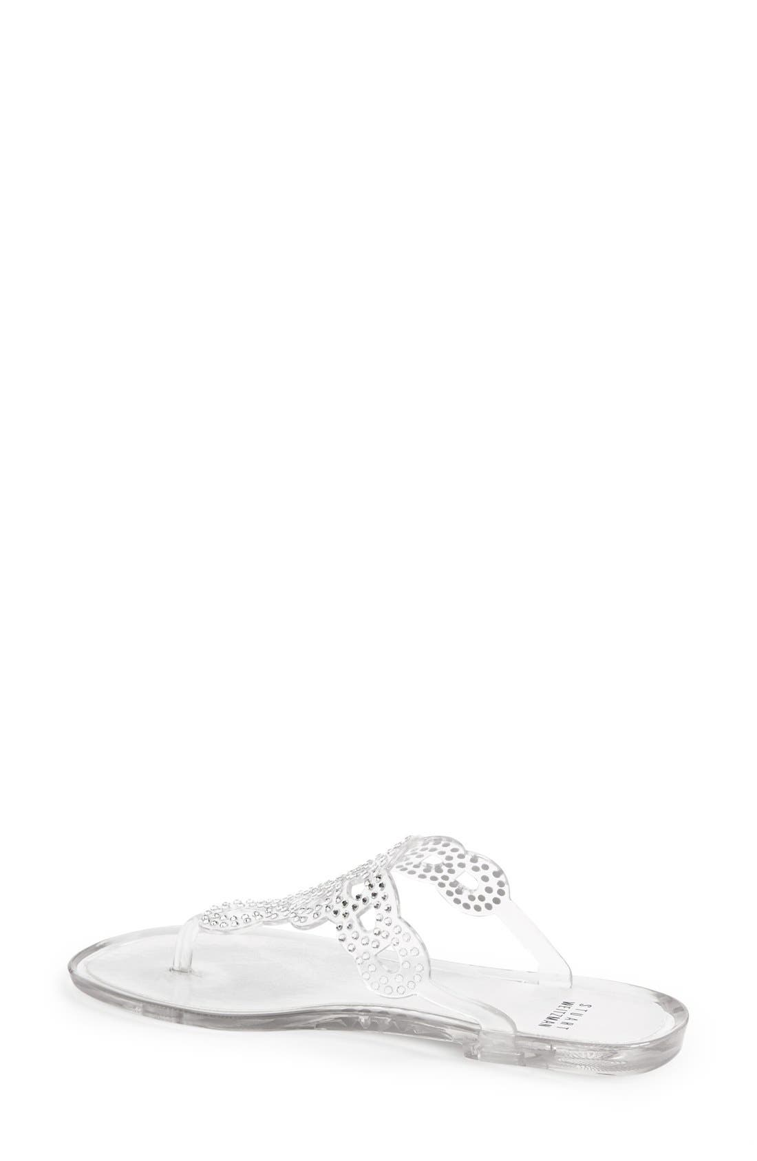 Alternate Image 2  - Stuart Weitzman 'Mermaid' Crystal Embellished Jelly Sandal (Women)