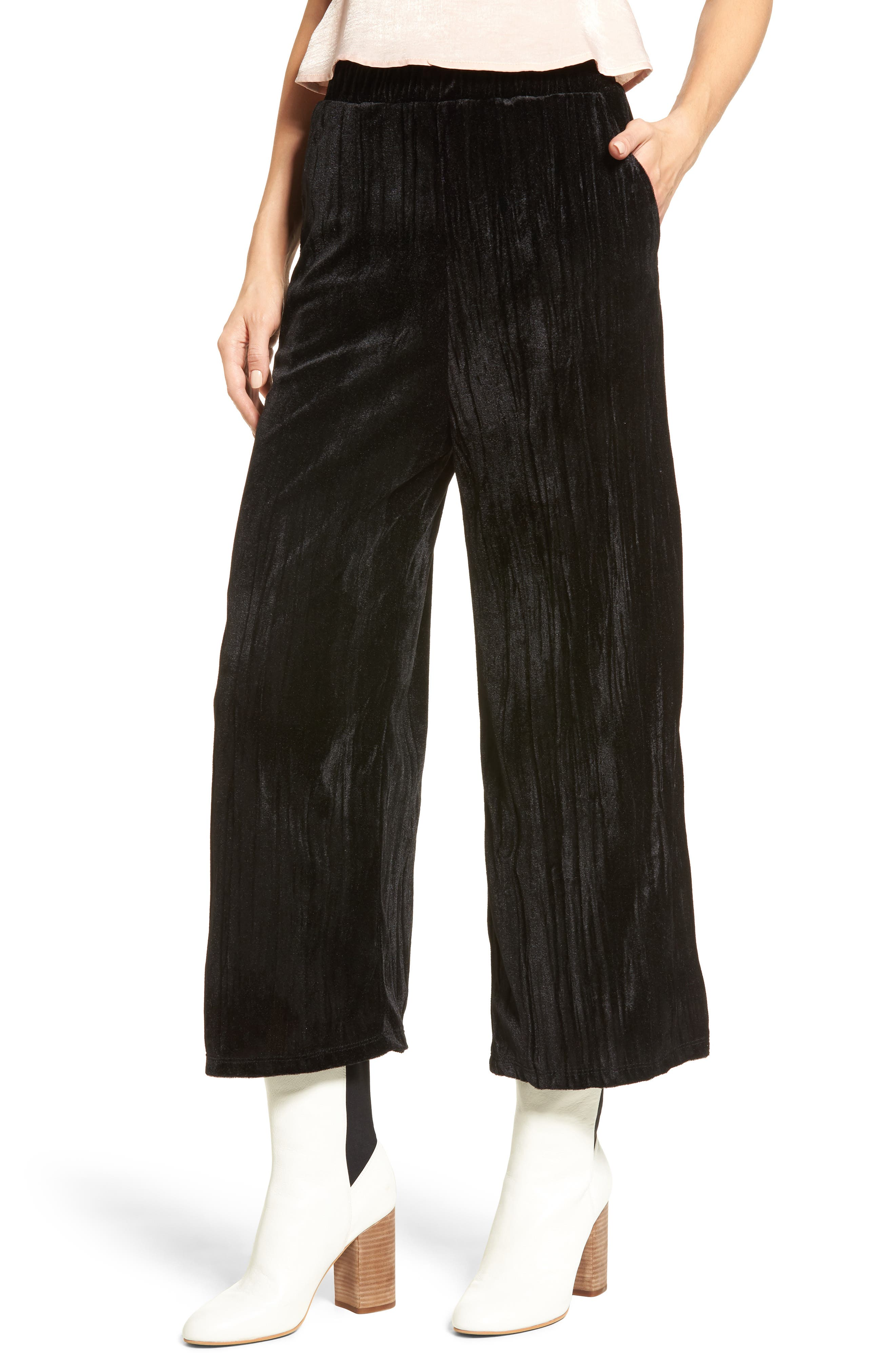 Alternate Image 1 Selected - Mimi Chica Velvet Culottes