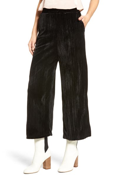Main Image - Mimi Chica Velvet Culottes