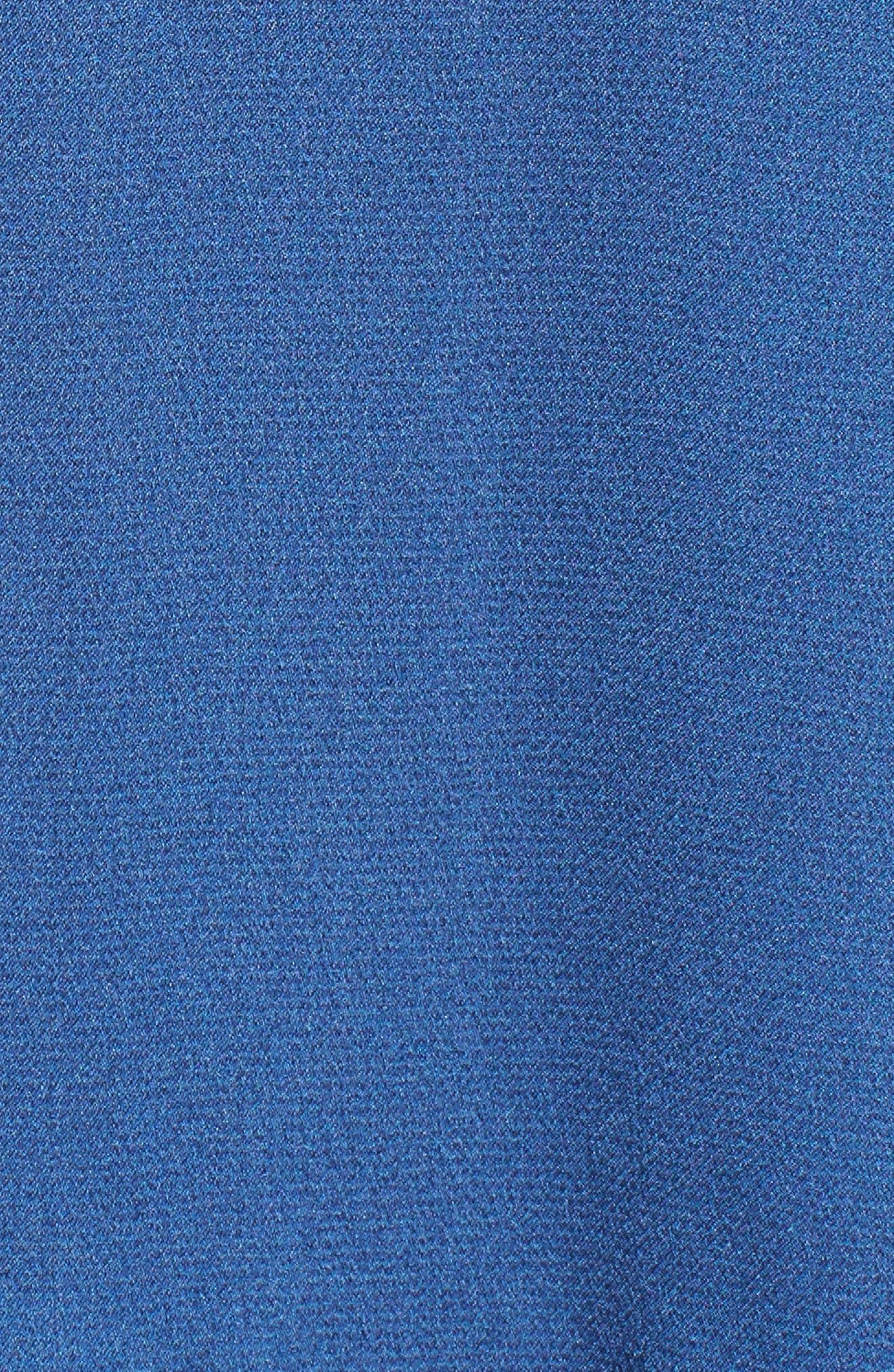 Elsa Satin Ruffle Wrap Minidress,                             Alternate thumbnail 6, color,                             Blue