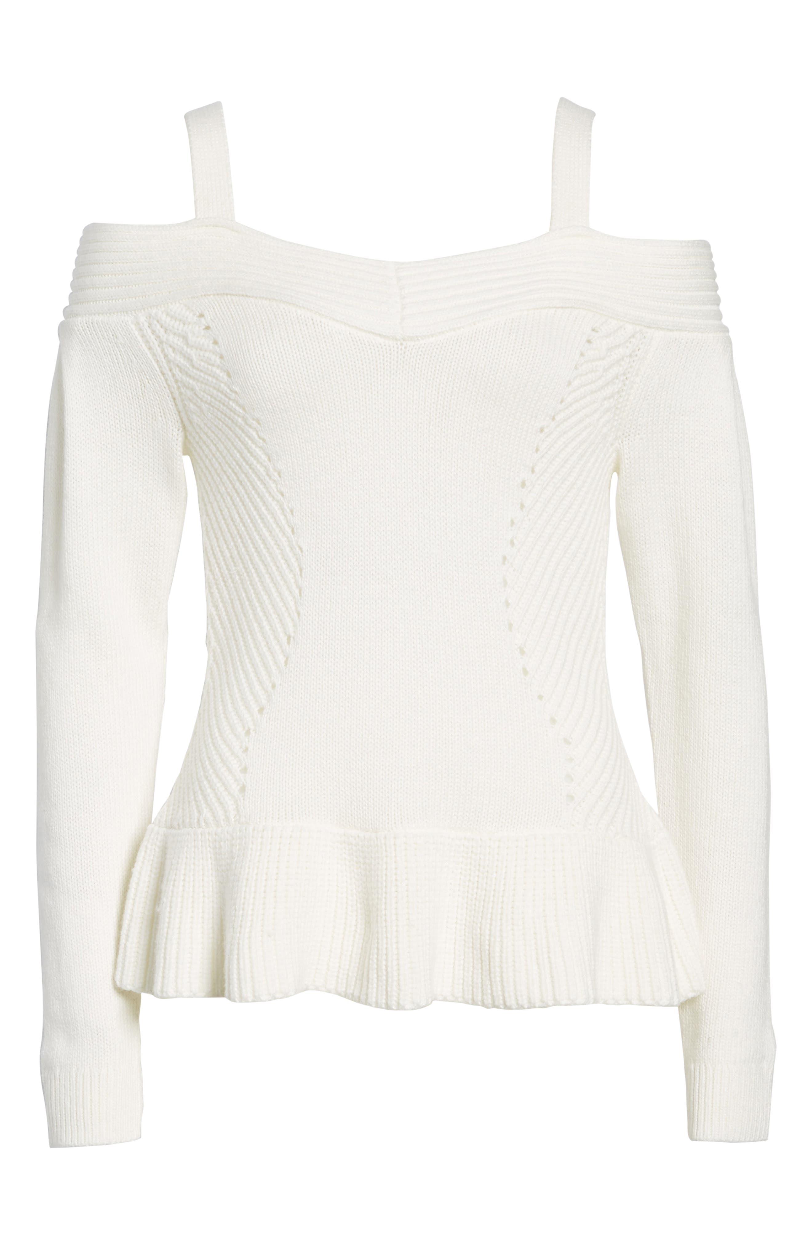 Alternate Image 6  - Chelsea 28 Cold Shoulder Sweater