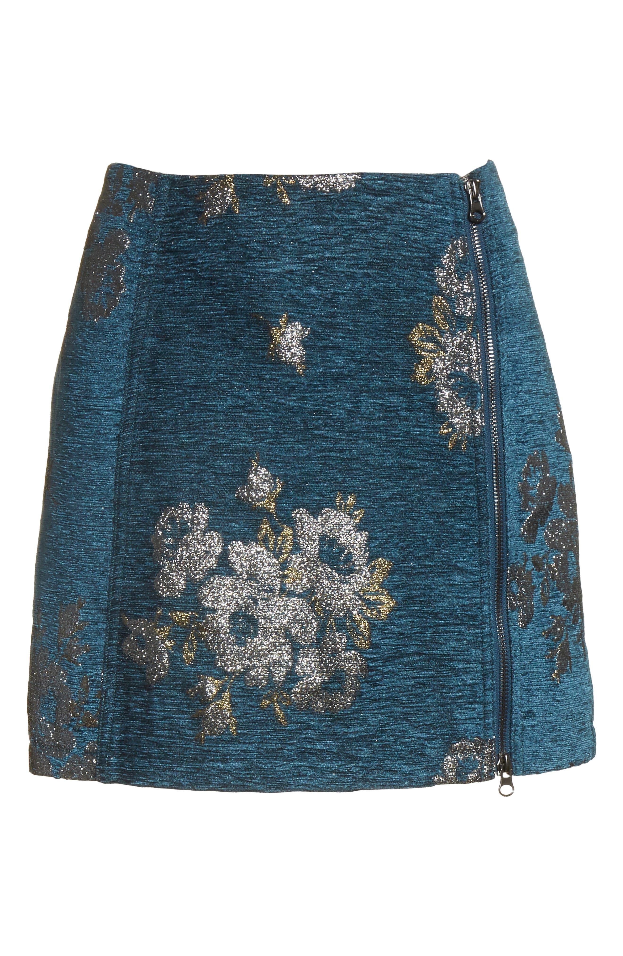 Movin' On Miniskirt,                             Alternate thumbnail 6, color,                             Dark Turquoise