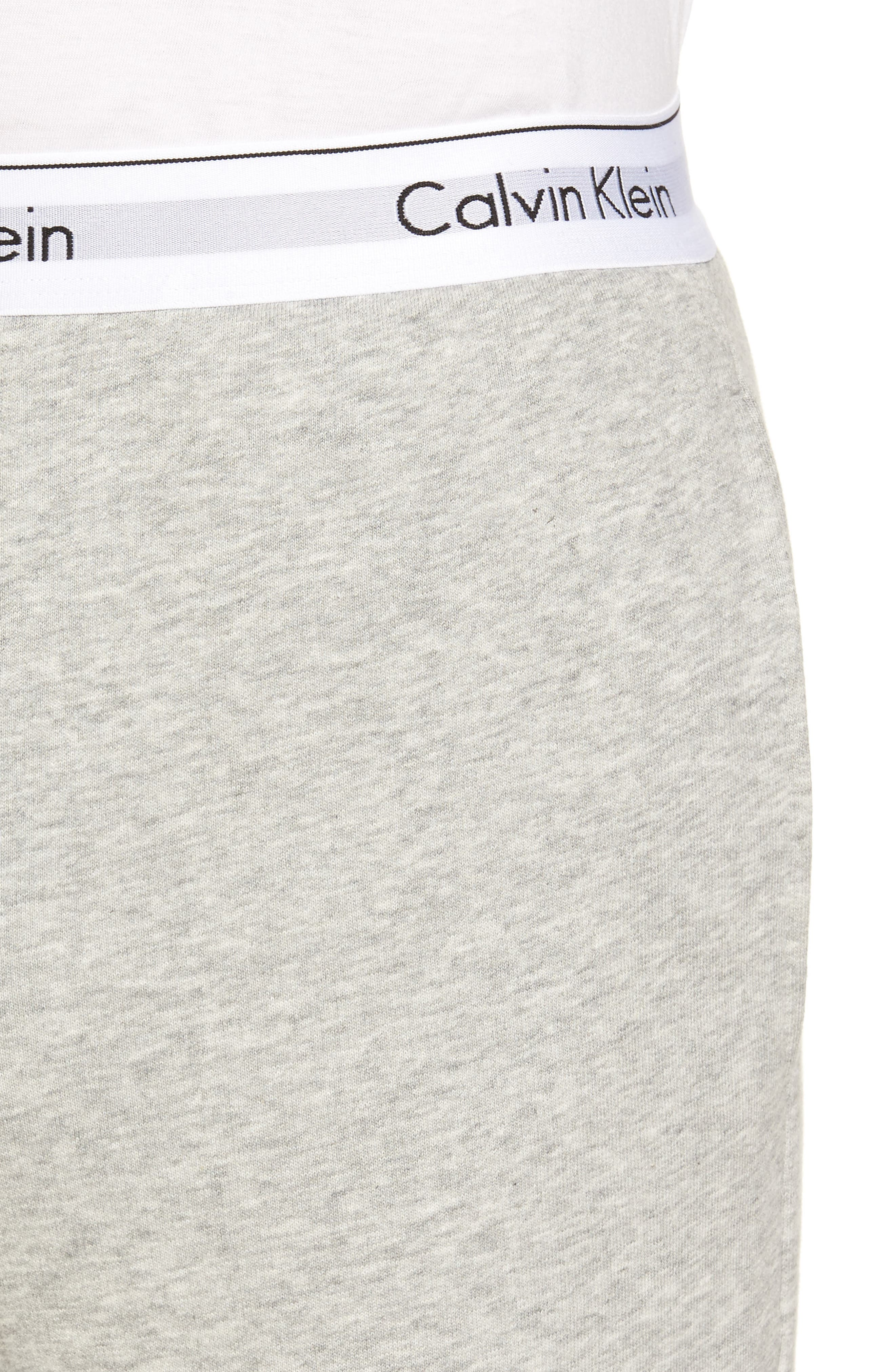 Modern Cotton Blend Lounge Pants,                             Alternate thumbnail 4, color,                             Grey Heather