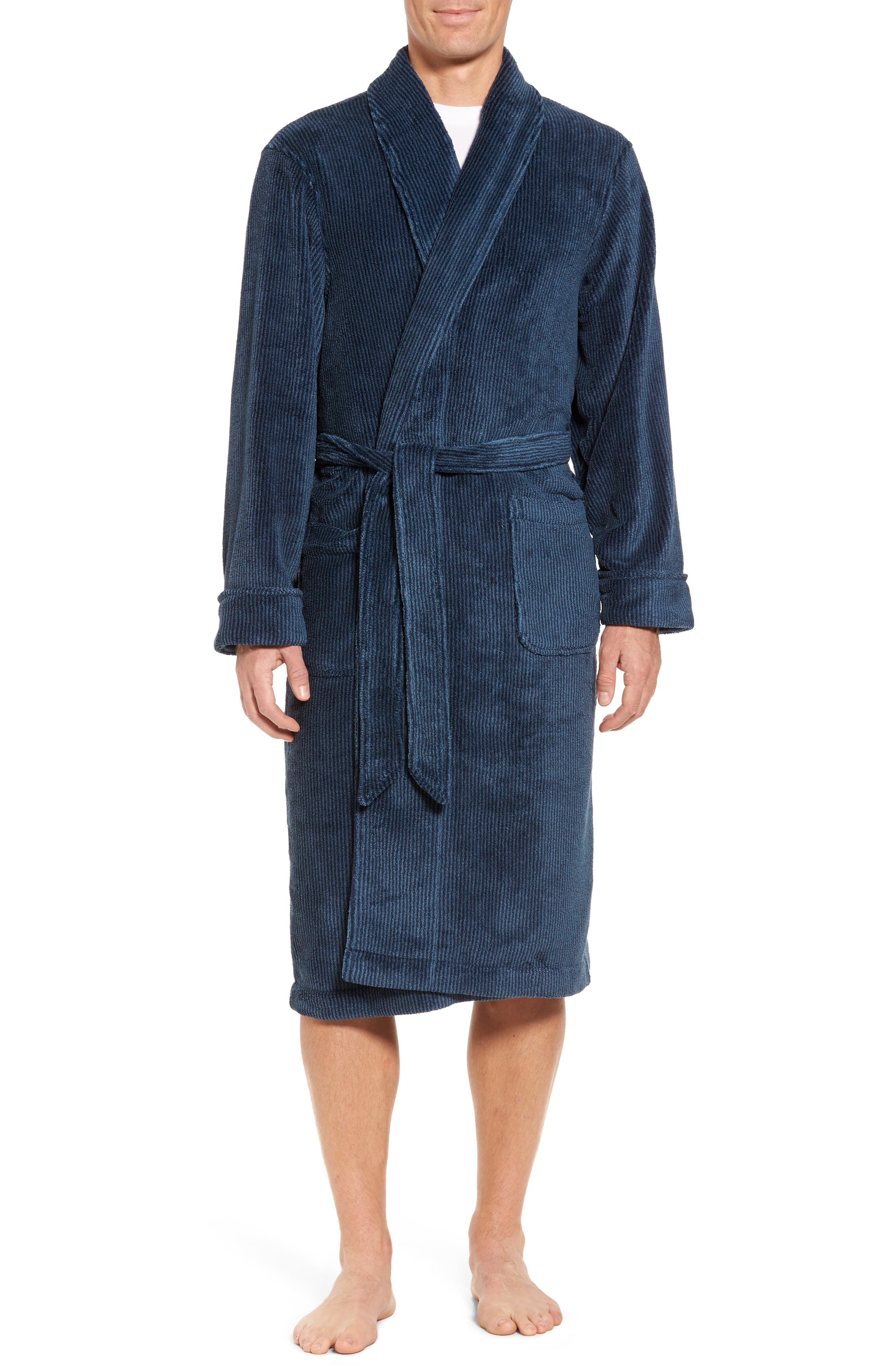 Nordstrom Men's Shop Stripe Fleece Robe