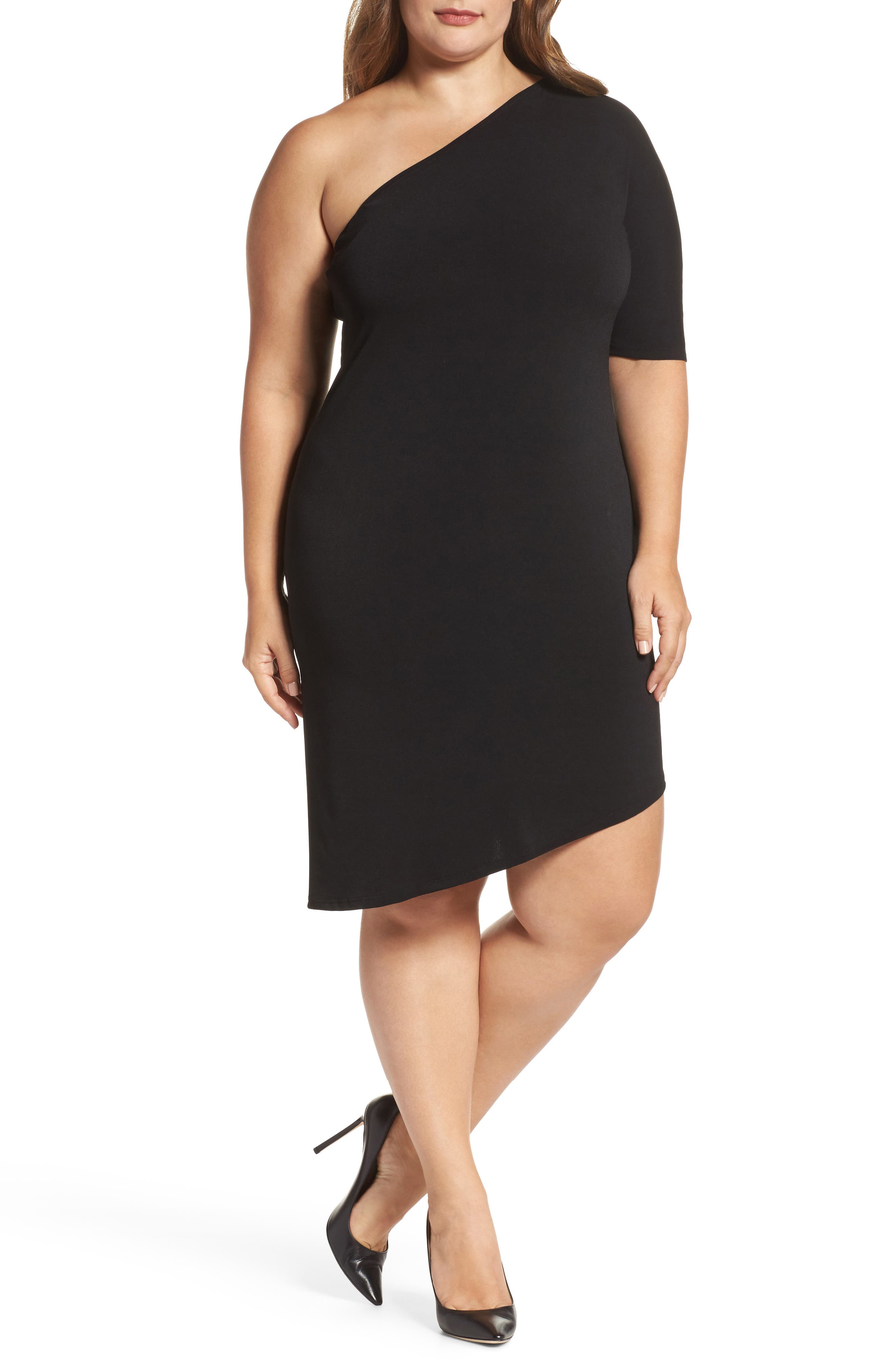 Leota Christina One-Shoulder Dress (Plus Size)