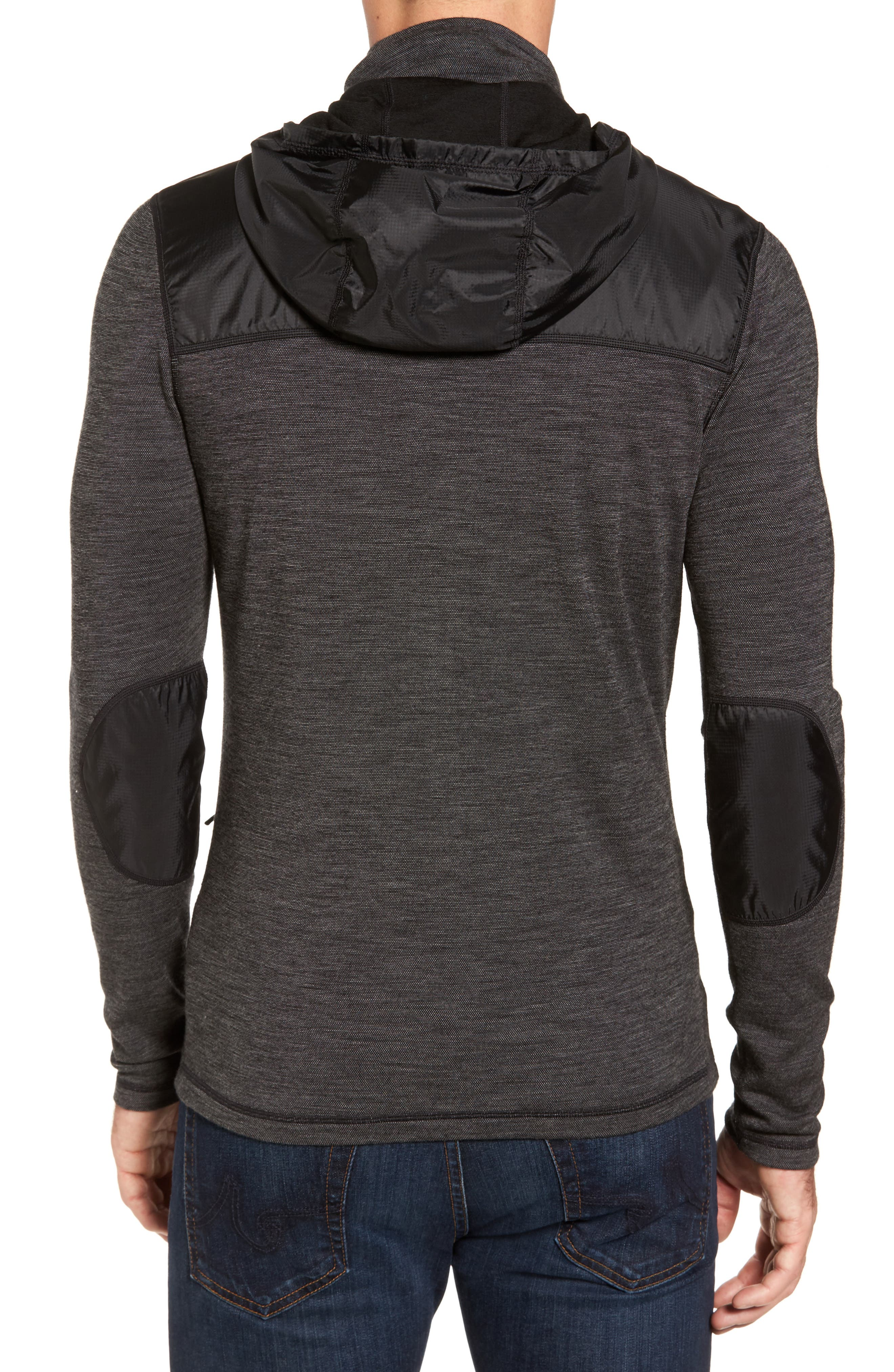 250 Sport Merino Wool Jacket,                             Alternate thumbnail 2, color,                             Black